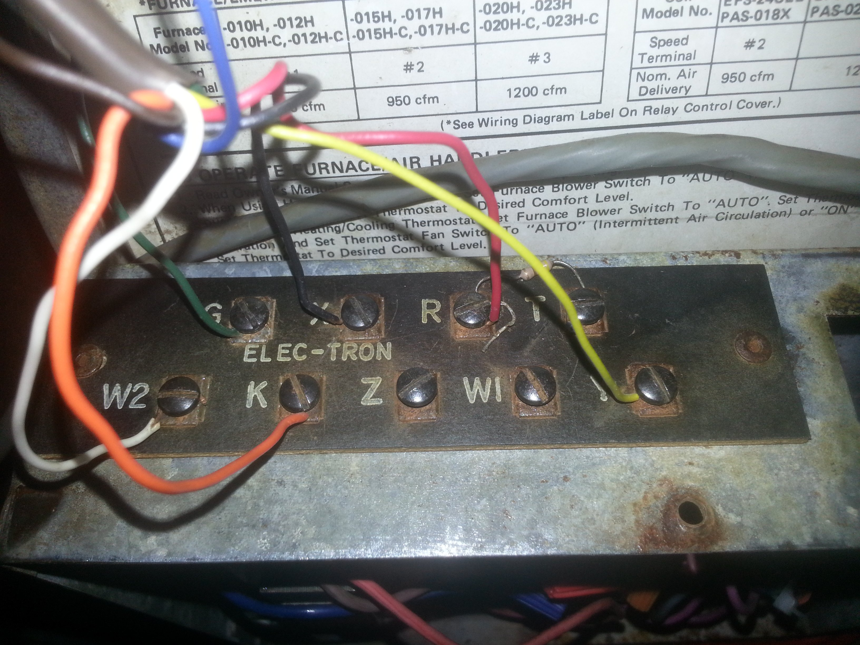 Got an old Intertherm Heat Pump - trying to wire up a new Honeywell ...