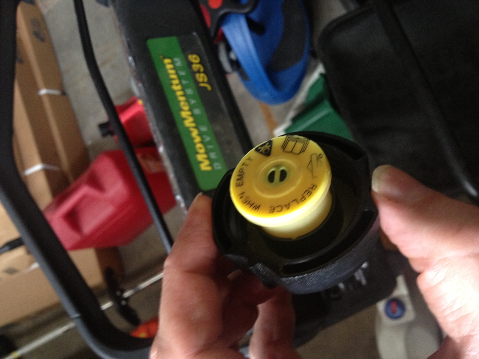 Dr Deere I have a JS36 push behind mower It came with a fuel