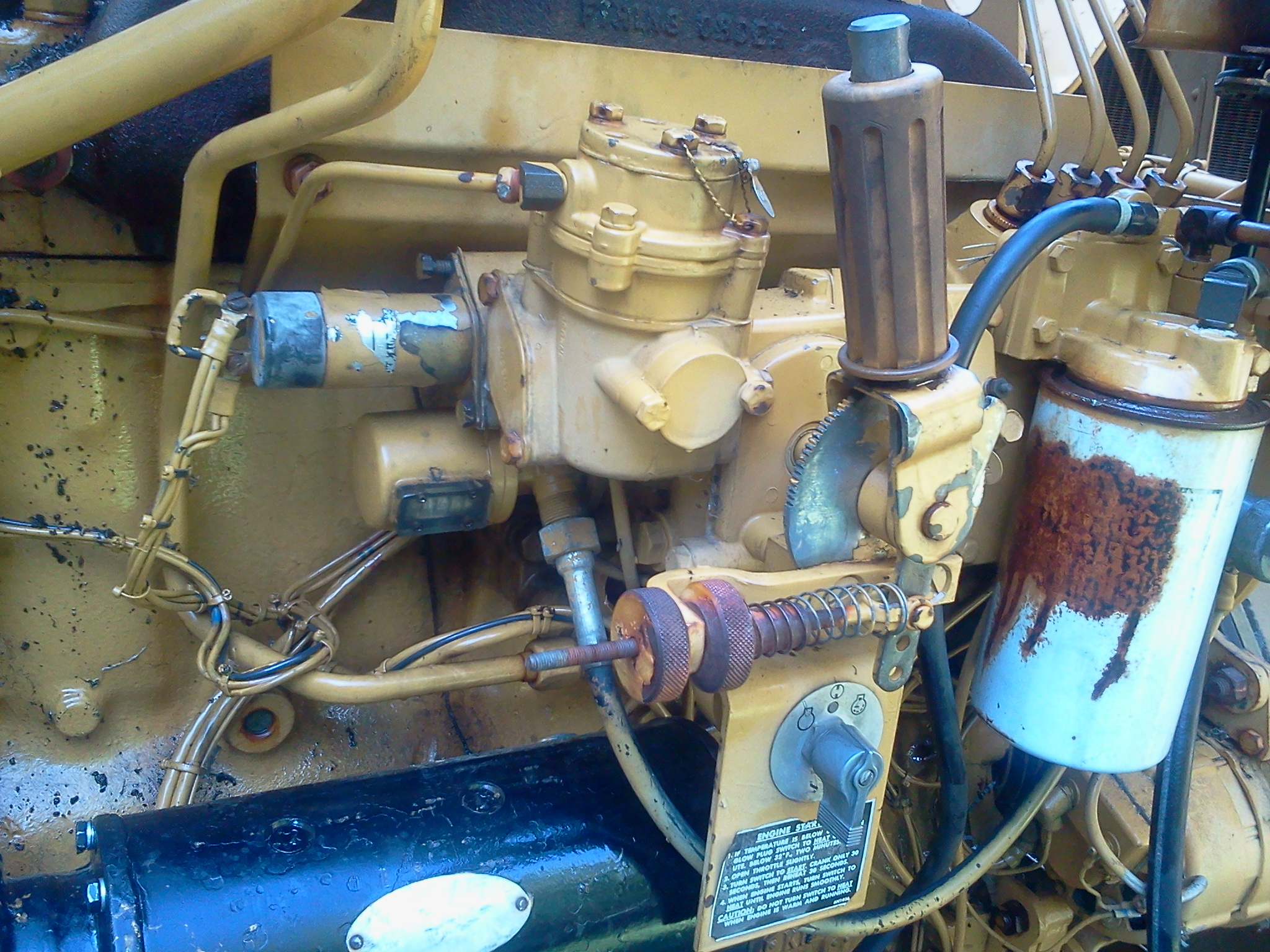 I have a caterpillar water pump with a 3304 diesel engine  It sat