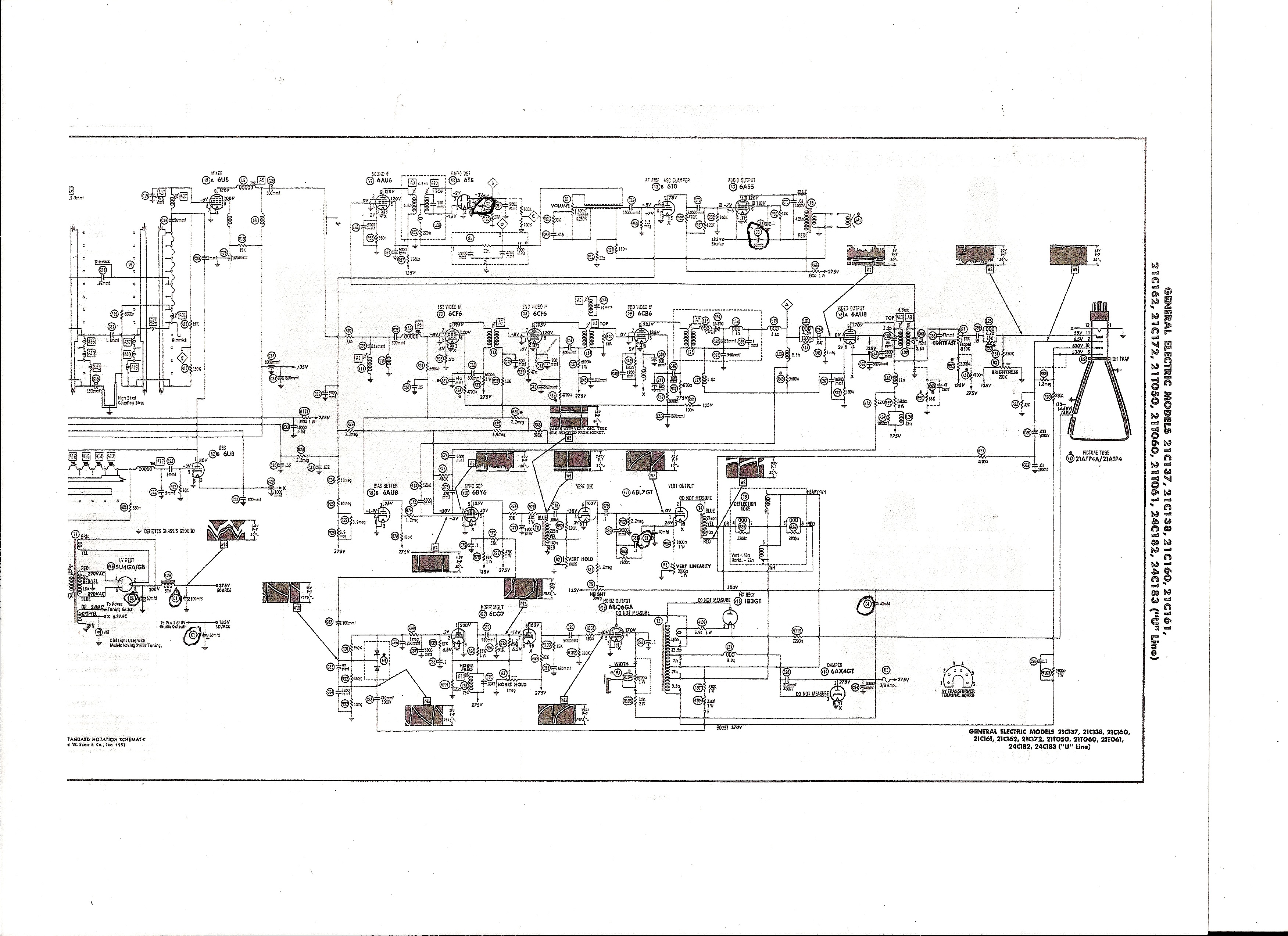 Ge Tv Schematic - Wiring Diagrams Folder Ge Tv Schematic Diagrams on