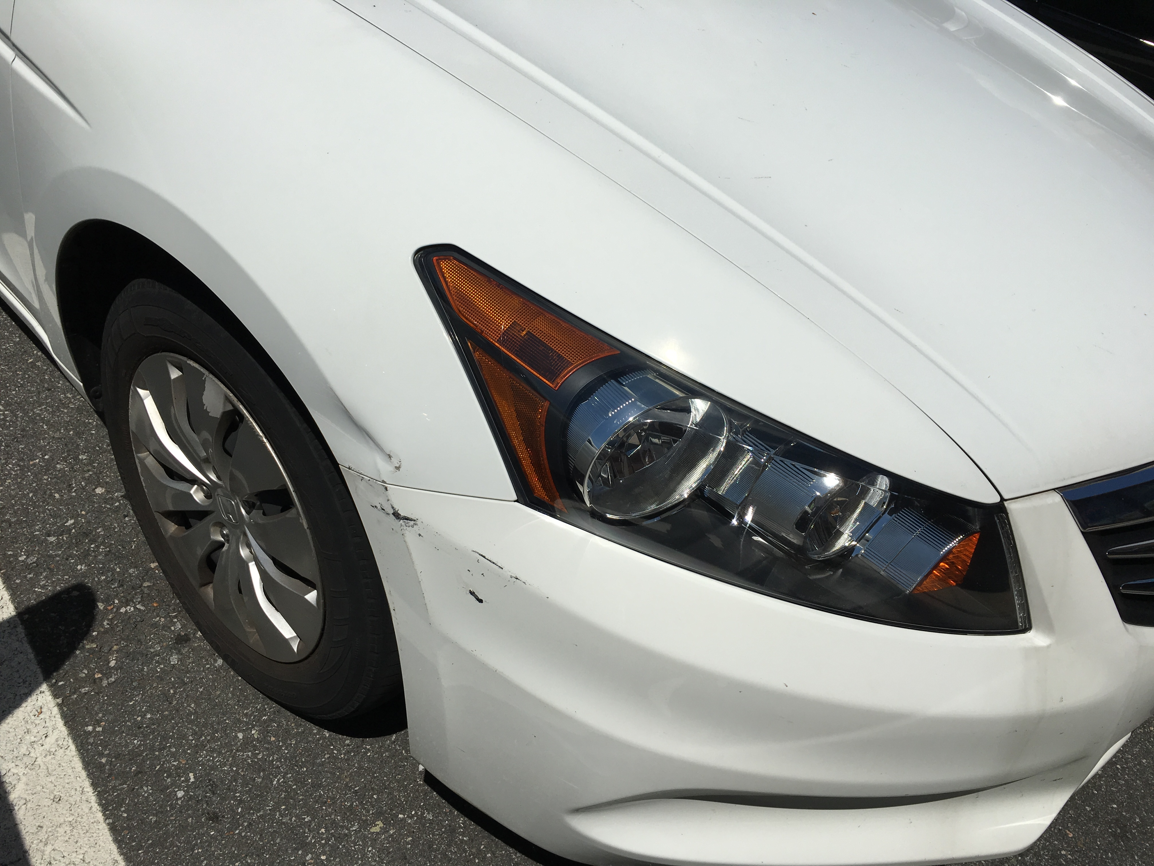 Need An Estimate For 2017 Honda Accord Front Side Fender Bender Repair Cost Please See The Photo Damage