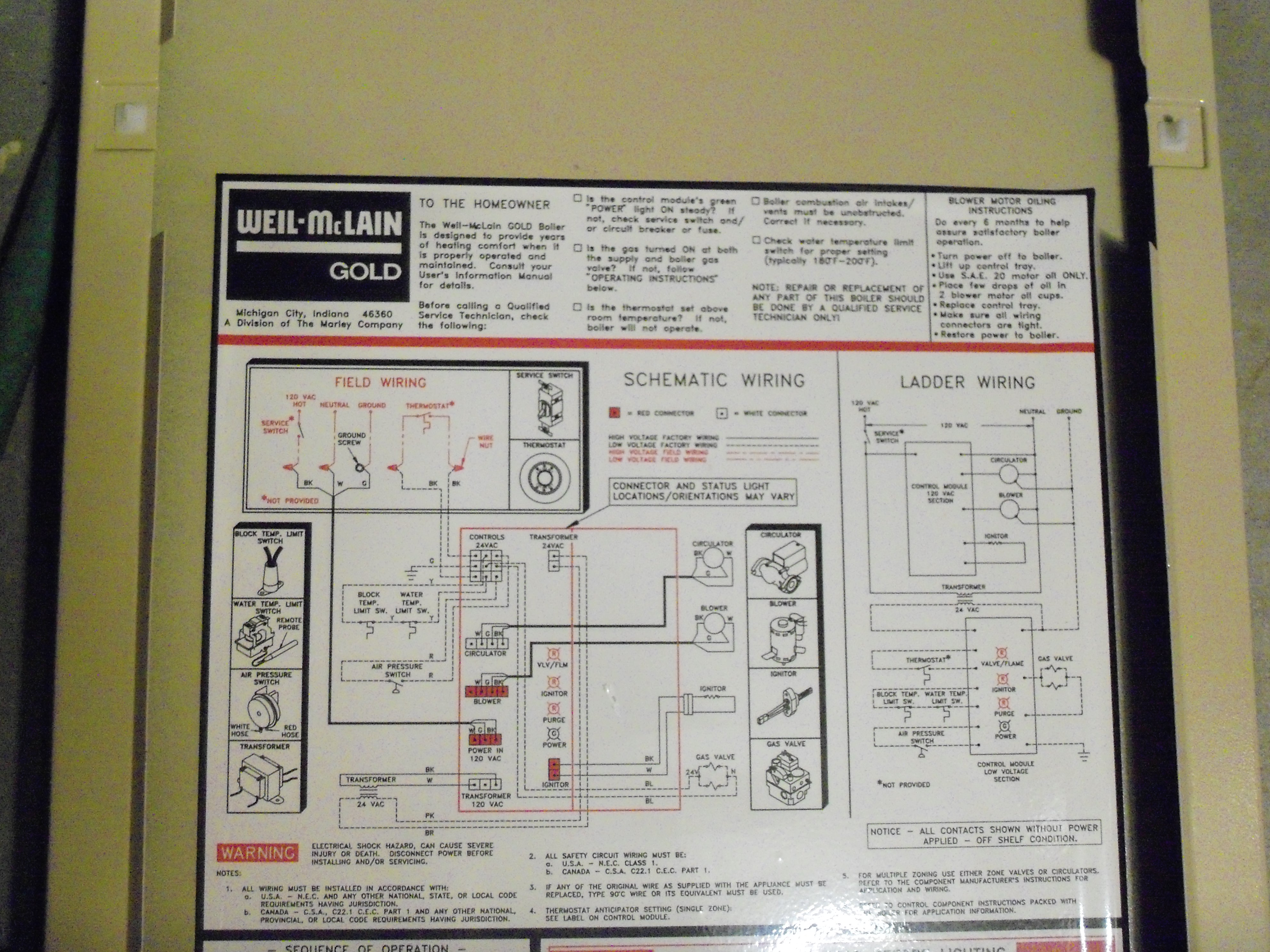 Attractive Weil Mclain Tech Support Pattern - Electrical System ...