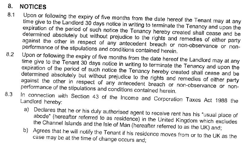 I Received A Letter Ending A Tenancy Agreement I Have On The Flat