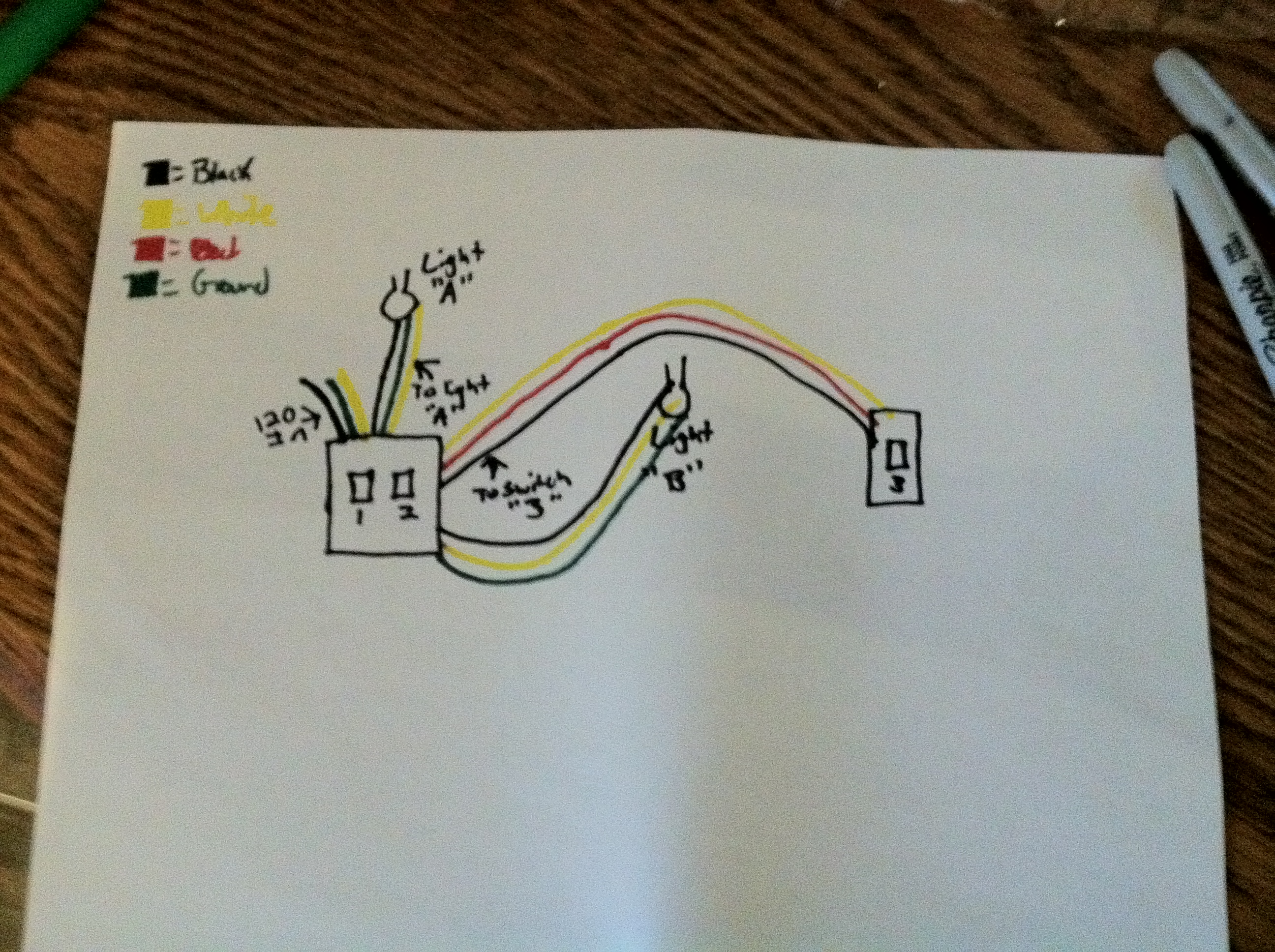 I\'m wiring a 3 way switch in my older house. Previously, the light ...