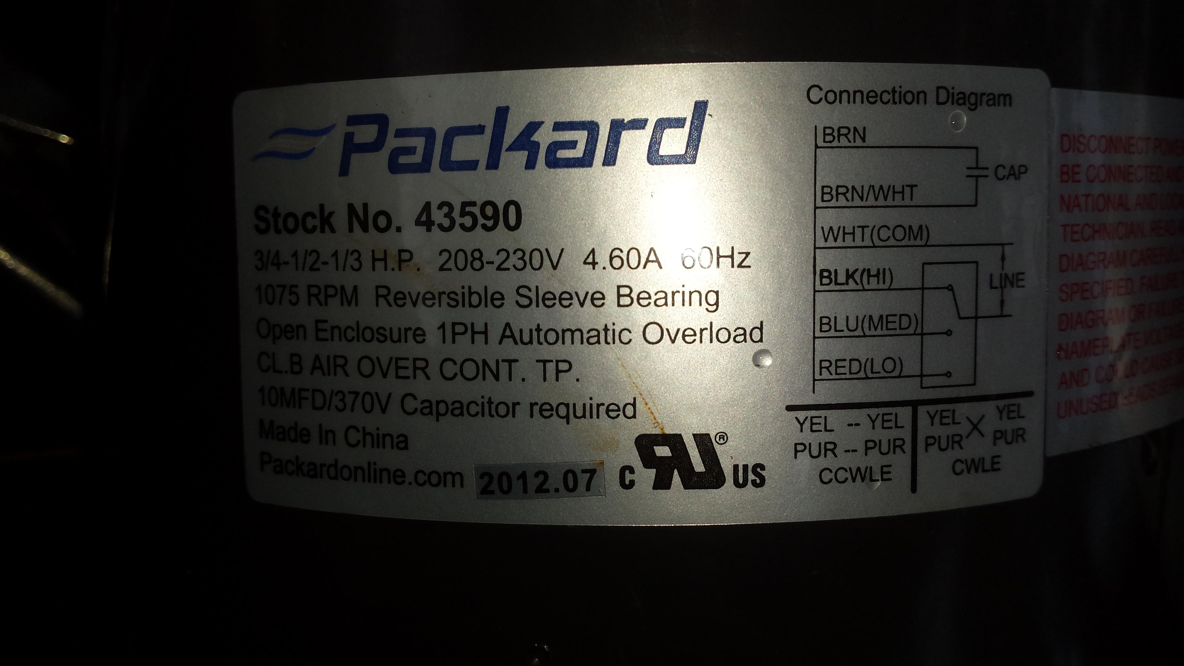 Am Replacing A Trane Hvac Blower Motor  U0026 Capacitor With A