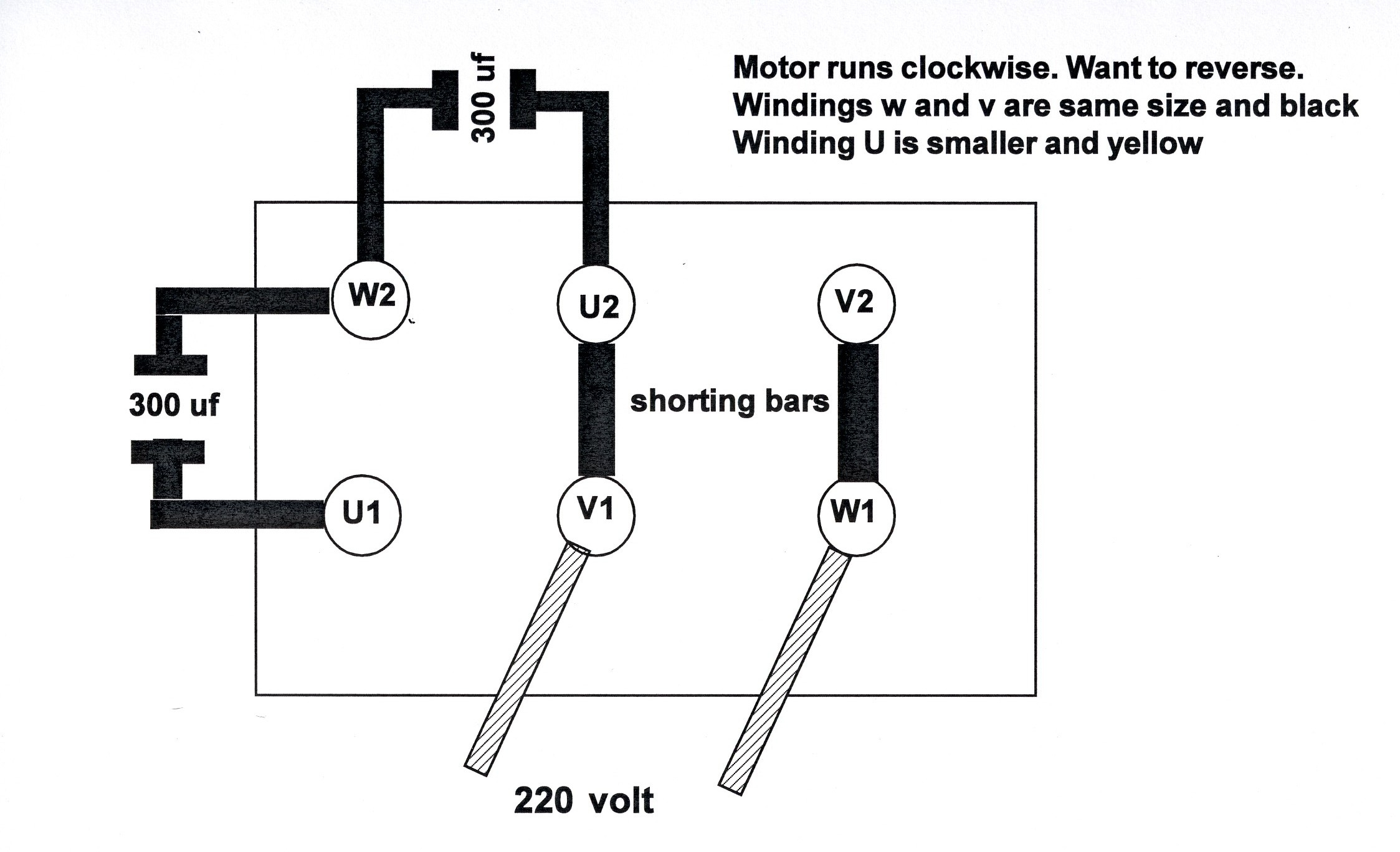 I Have A Yl100 2 220 Motor It Is Currently Set To Run Clockwise Single Phase Reversing Wiring Diagram Full Size Image