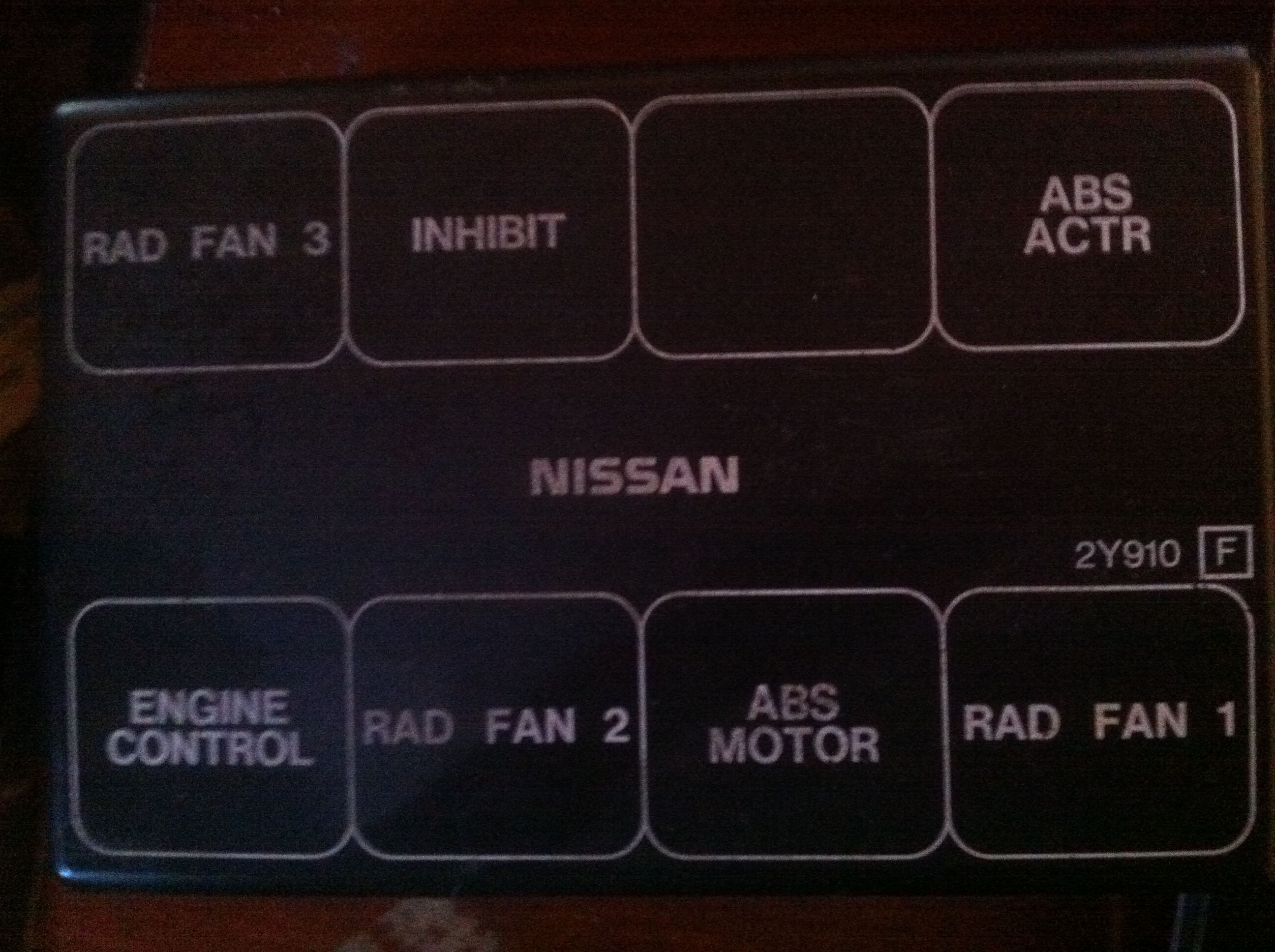 Relay Cover 2001 Nissan Maxima 25th Ann