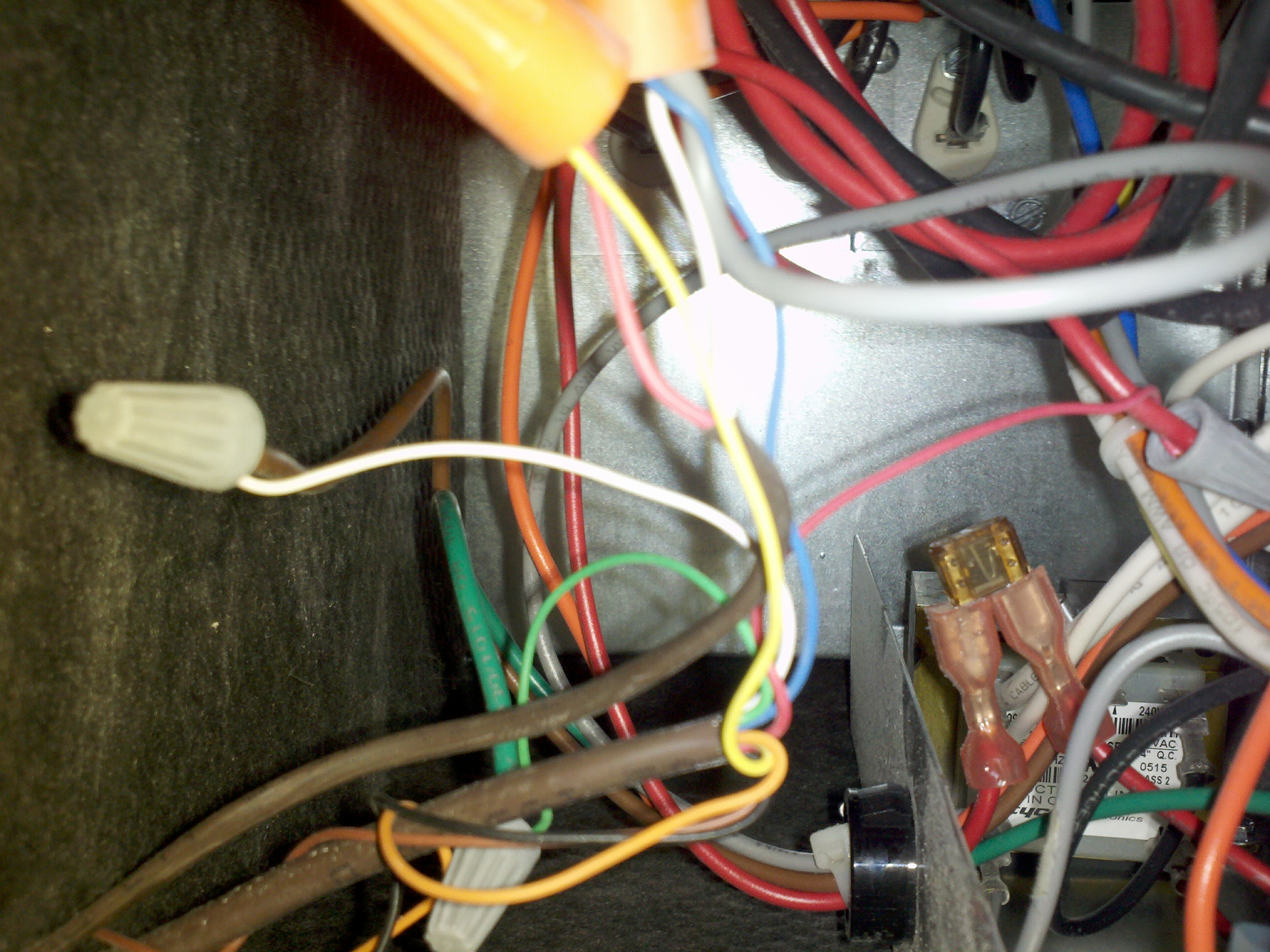 Your Dog Chewed The Thermostat Wire Outside Now Heater Works Wiring For Ac That Are Together With Other Cables A Nut