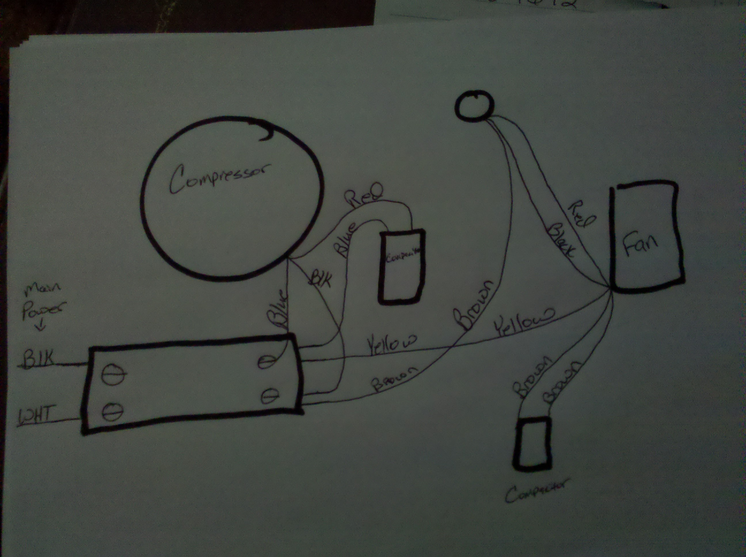 ... schematic of the new motor. graphic graphic. HVAC Technician: BillyHvac