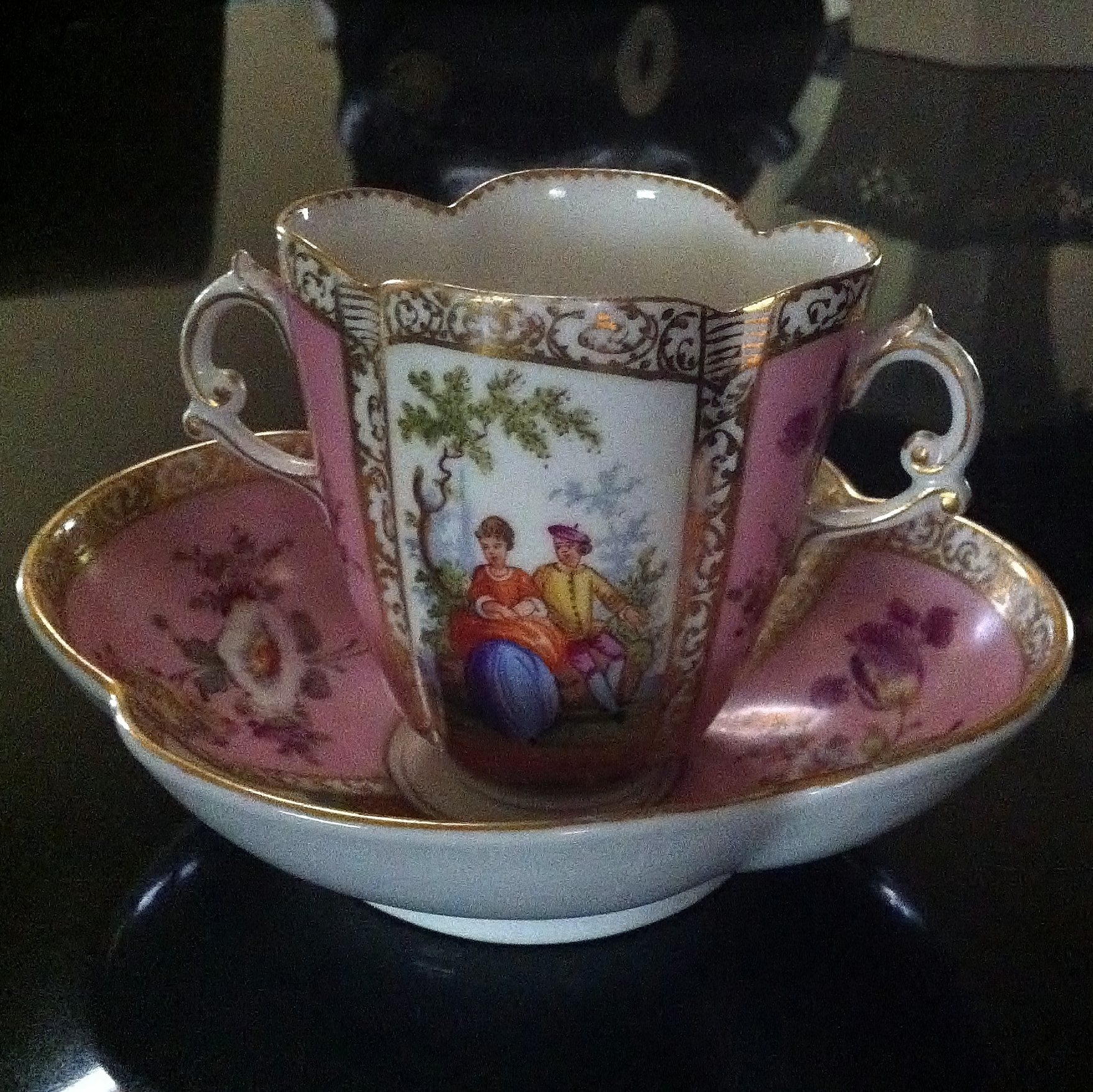I Have A Dresden China Hot Chocolate Cup With Saucer And I