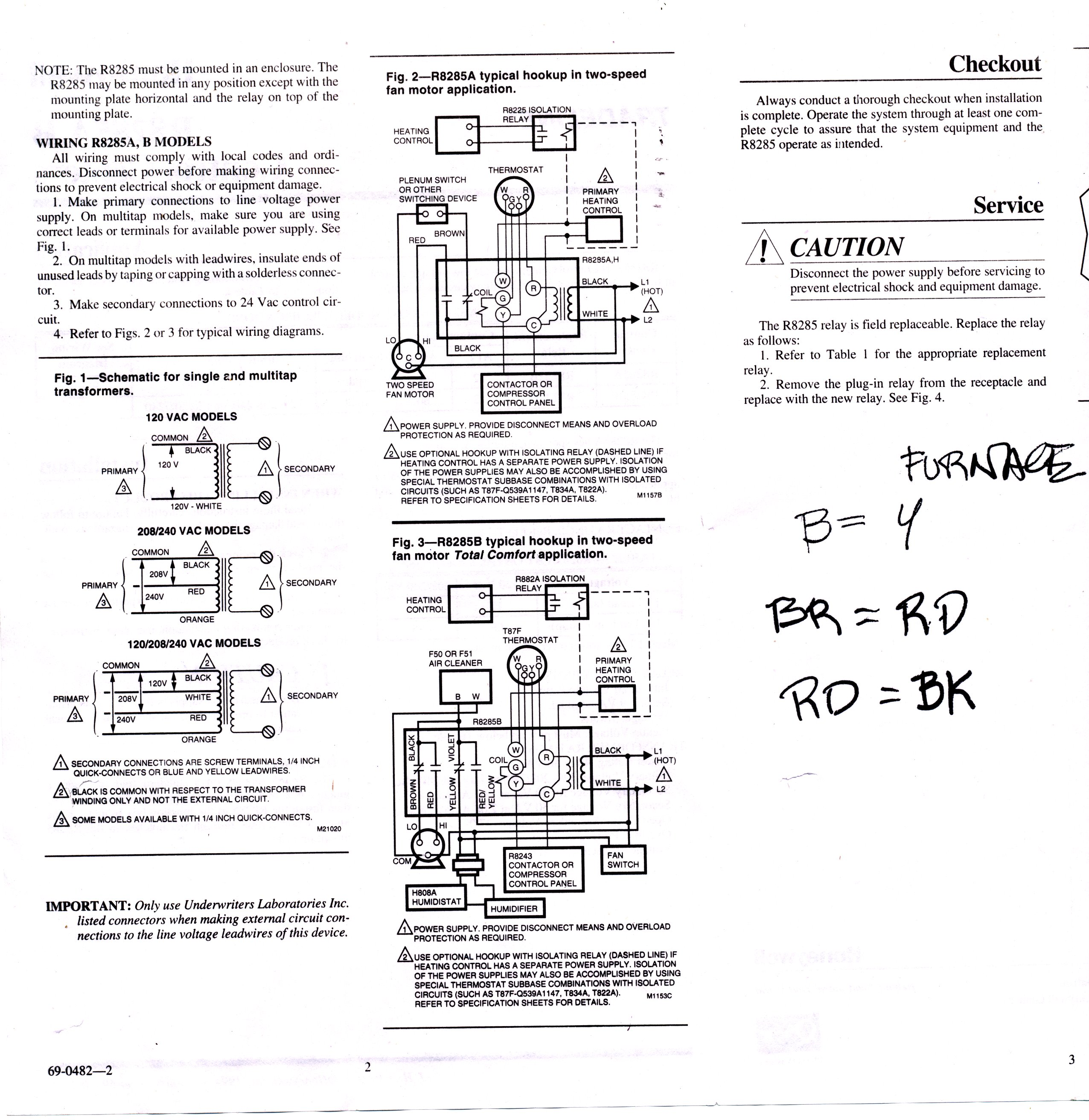 Furnace Limit Switch Wiring Diagram Great Design Of Ac Fan Relay Honeywell 41 Older Electric