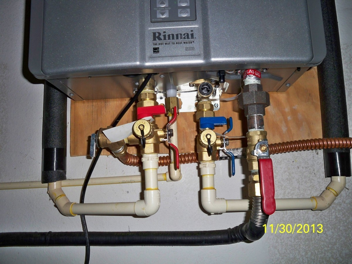 I Have A Rinnai Tankless Water Heater Ru80i Installed May