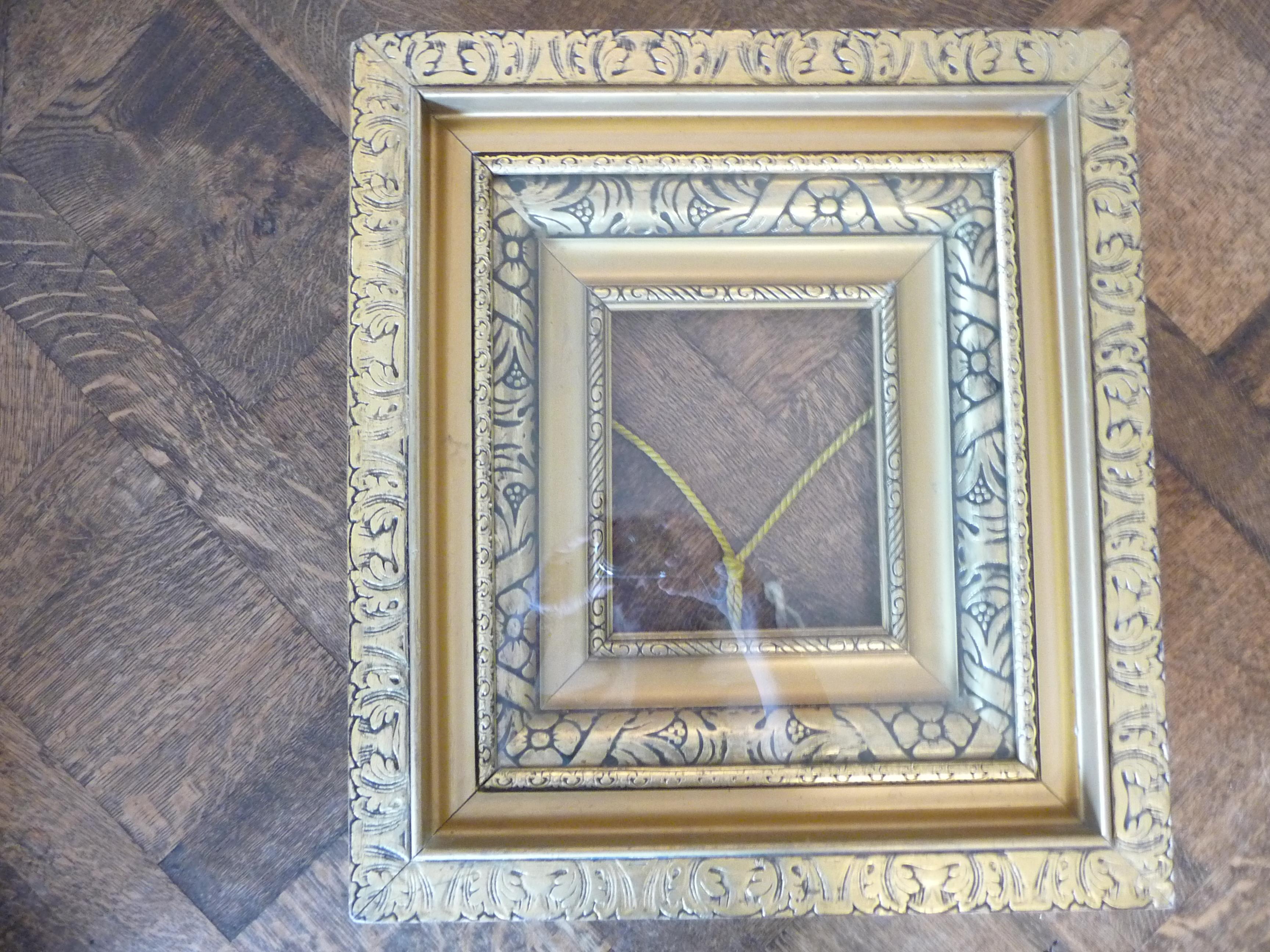 questionS., Three frames, please. 1. 19.25x 17.5 Gold leaf frame/6 ...