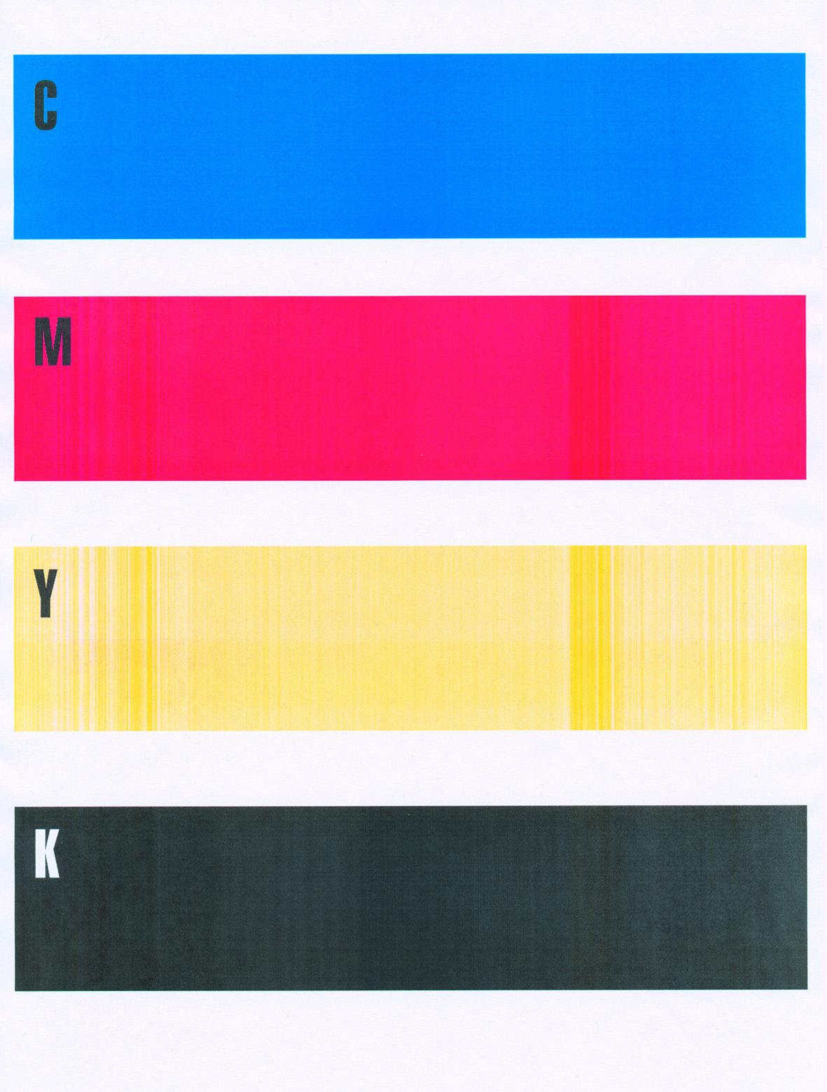 Hallo, bei meinem OKI 5650 werden bei Gelb nur Streifen gedruckt,