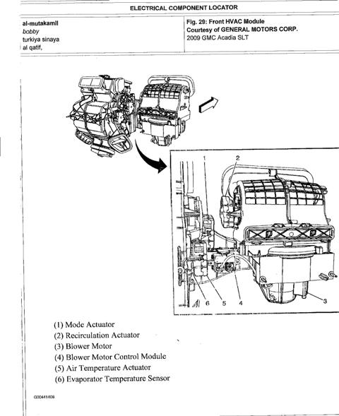 2011 Gmc Acadia Hvac Diagram