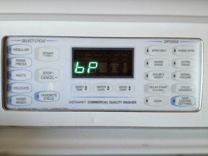 My Amana washing machine keeps returning a