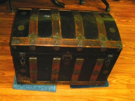 I own an old in very good shape steamer trunk. the slating is oak ...