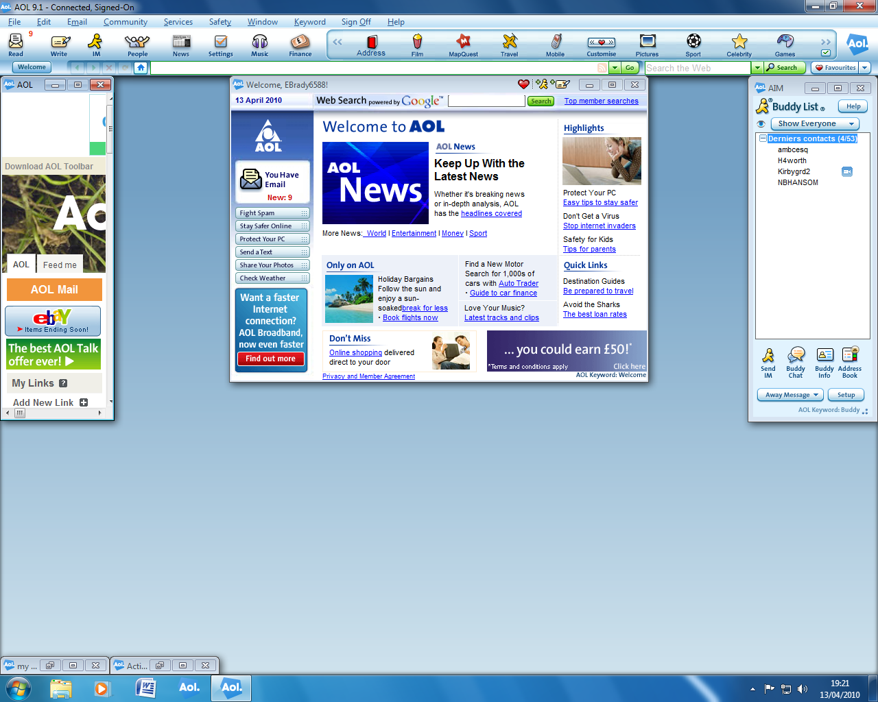 aol browser 9.1