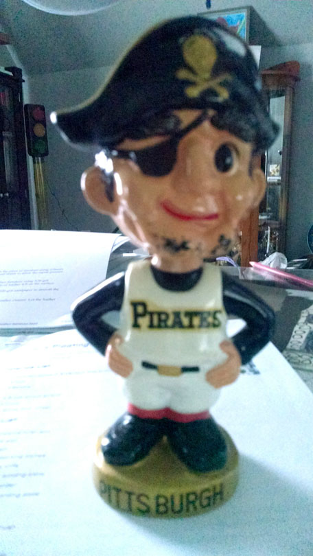 Awesome I Have A Pittsburgh Pirate Bobblehead Mascot From The 1960S Squirreltailoven Fun Painted Chair Ideas Images Squirreltailovenorg