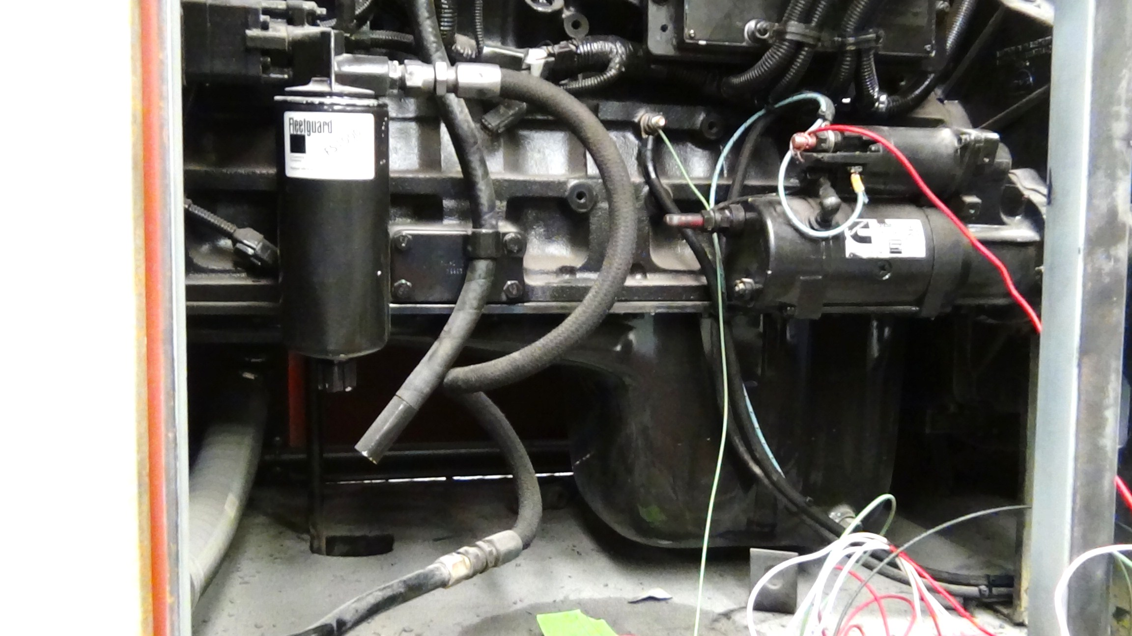 To My Knowledge All Industrial Diesel Engine Have A Primary Fuel Filter As You Can See On The Picture Is Directly Supply From Tank With