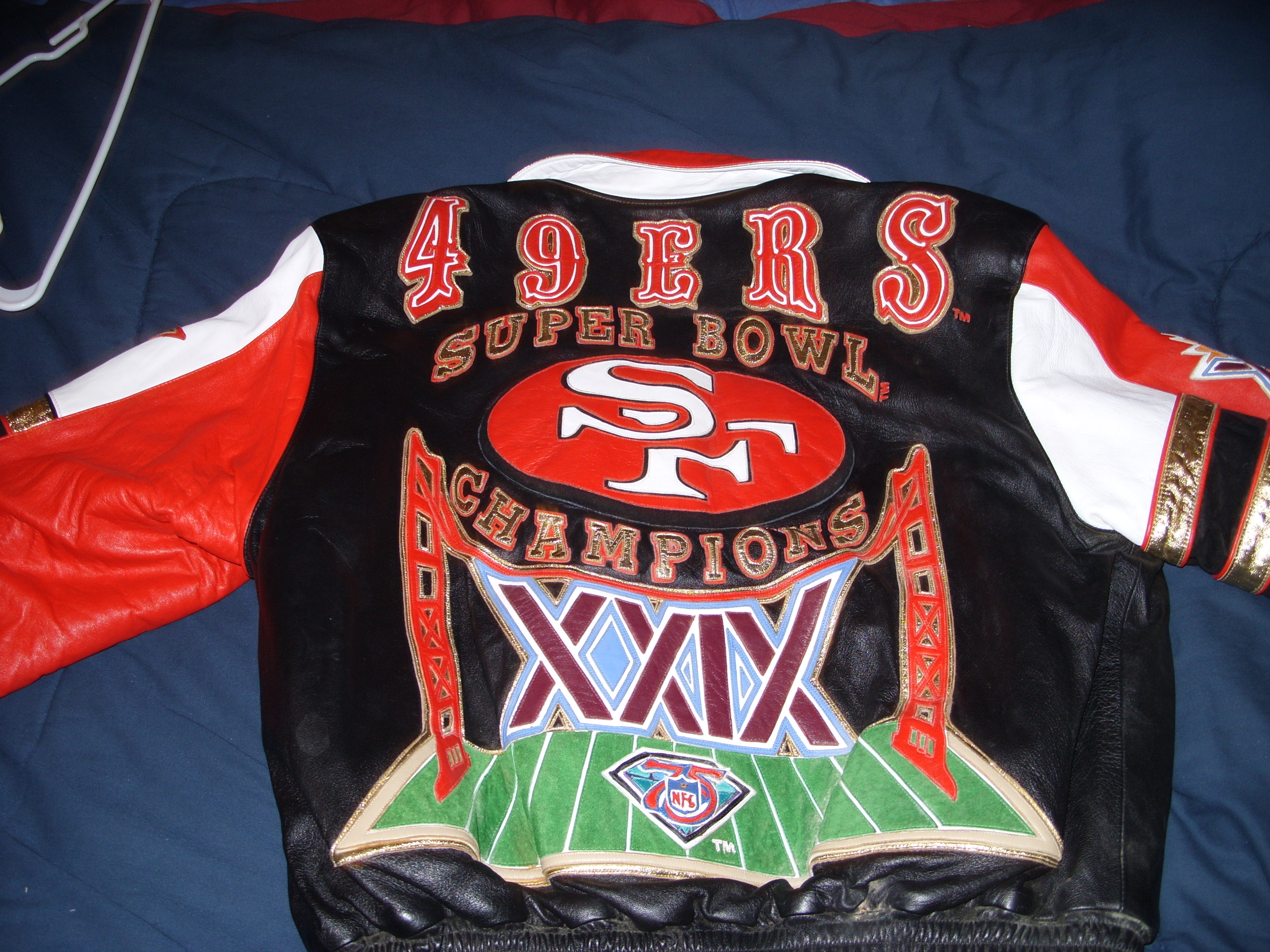 superior quality f047b 65b7c I have a Super Bowl xxiv San Francisco 49ers Leather Jacket ...