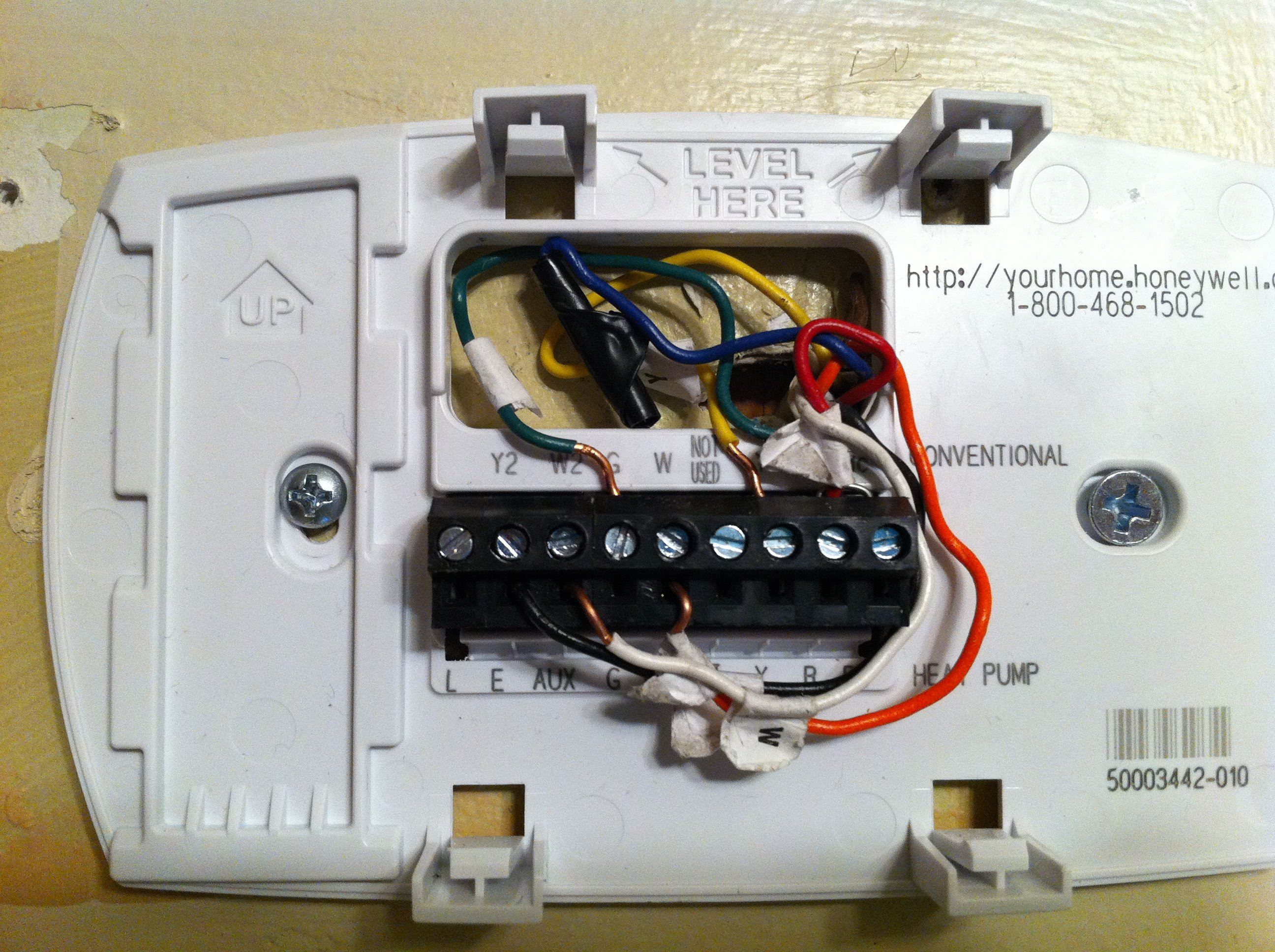 I Just Bought A New Digital Rth6350d To Replace My Old York Mechanical Thermostat With Mercury