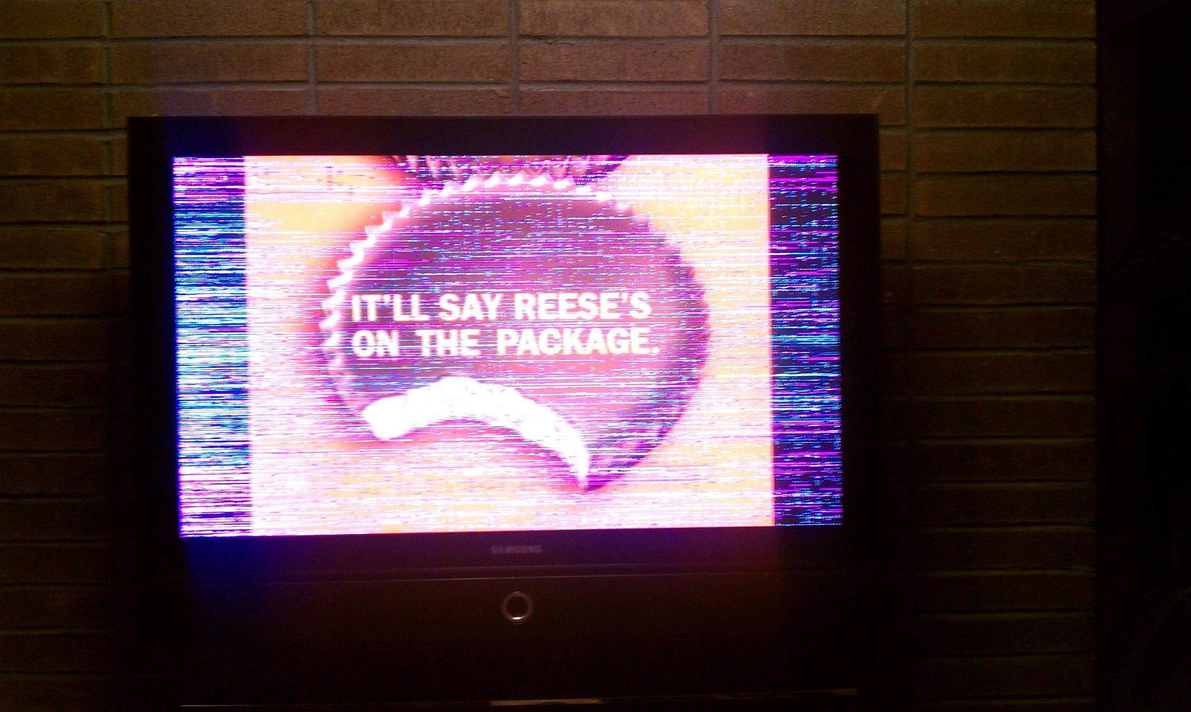 I Have A Samsung Plasma Tv Hpr4272x Xaa The Screen Has Colored Pixeled Lines Going Up And Down And Left To Right This