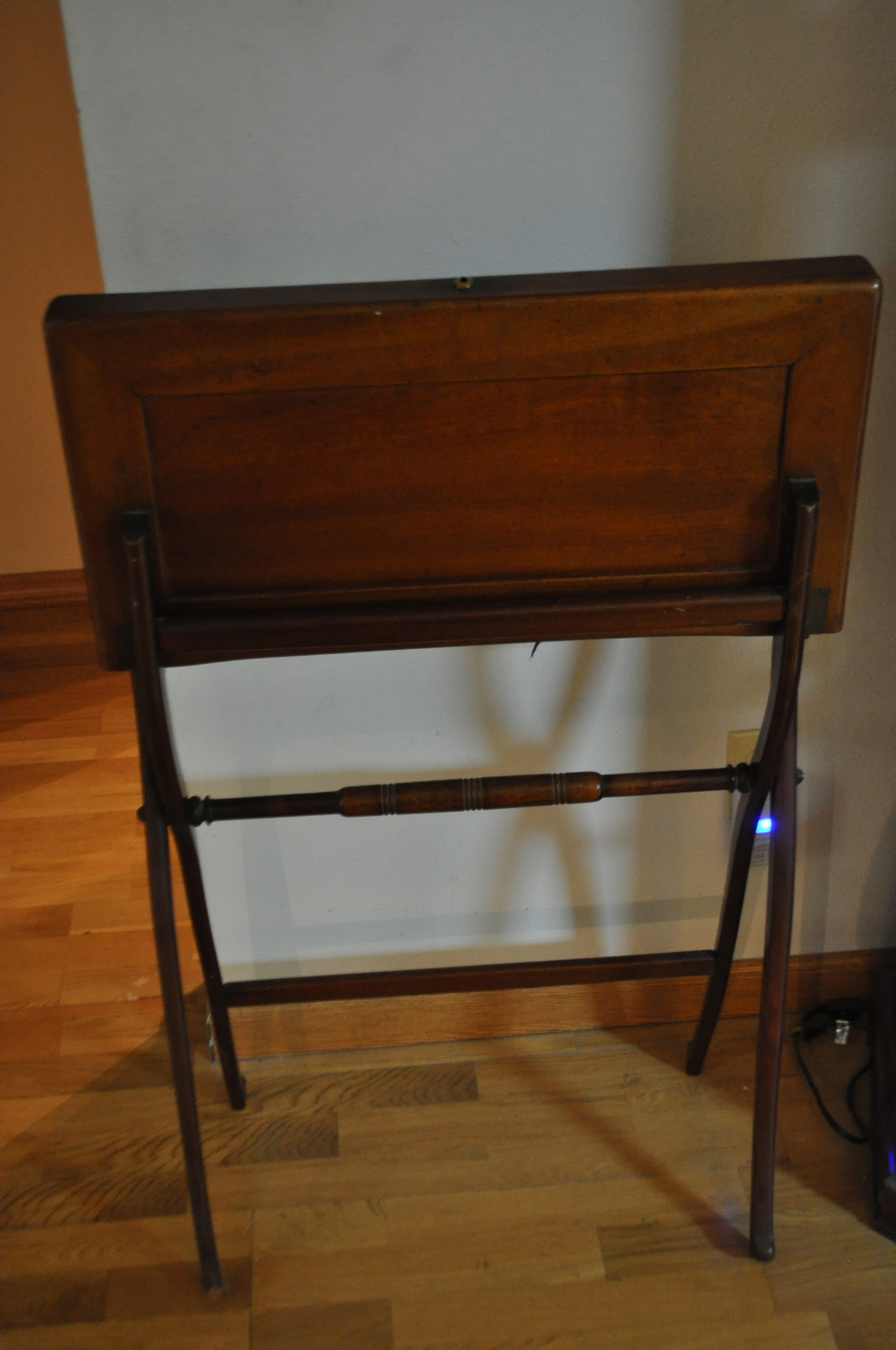 I have an antique folding writing desk. - I Have An Antique Folding Writing Desk. One Leg Has Been Replaced By