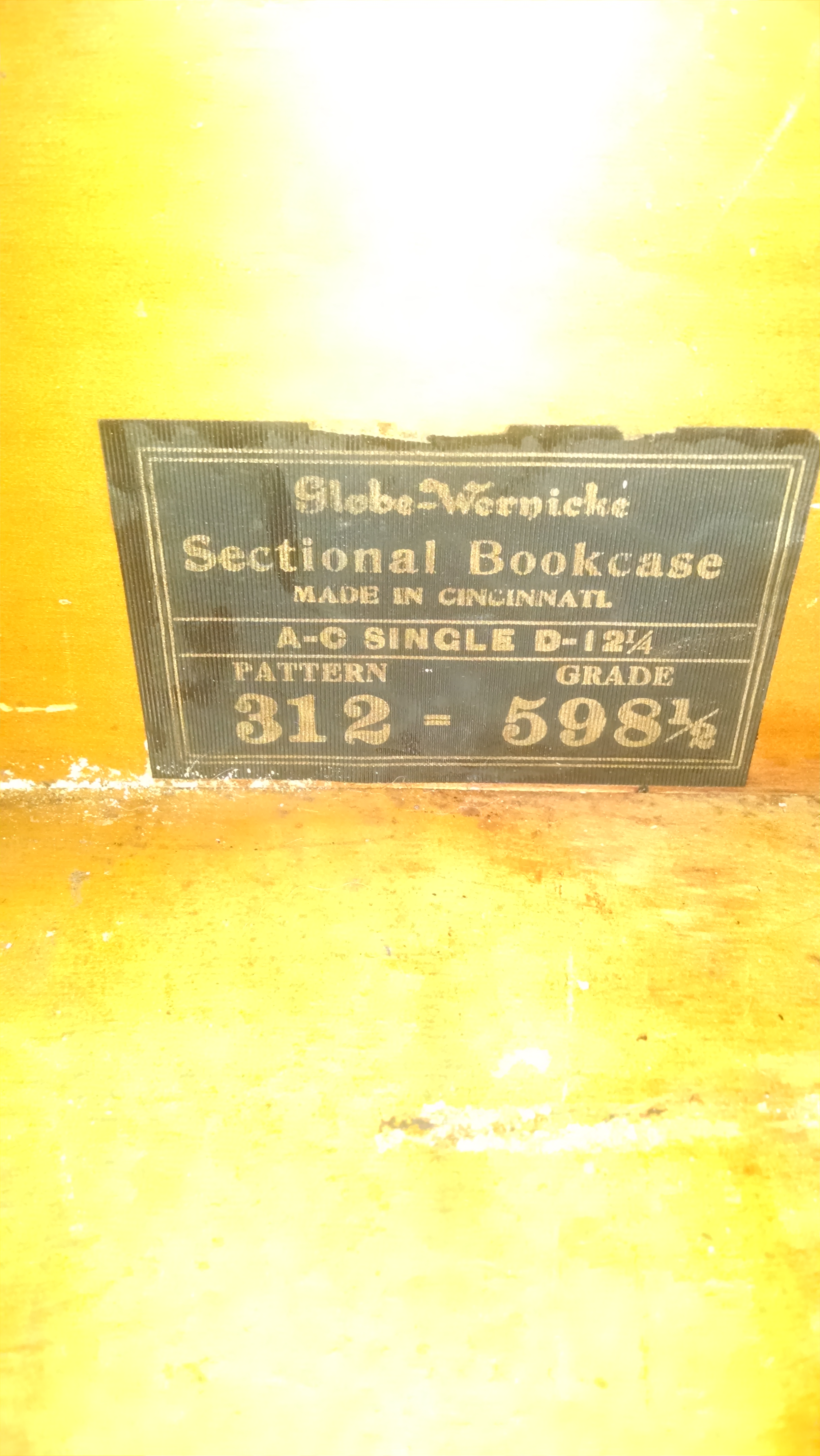 I Need To Know The Value Of A Barrister 3 Shelf Bookcase It Has A Label Reading Grade 598 1 2