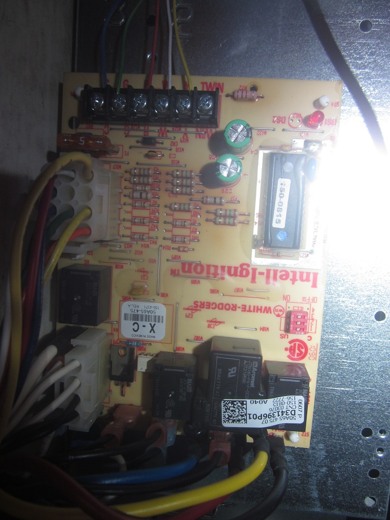 I have an American Standard Freedom 90 Single Stage that has ... Images Of Intell Ignition Circuit Board Wiring on