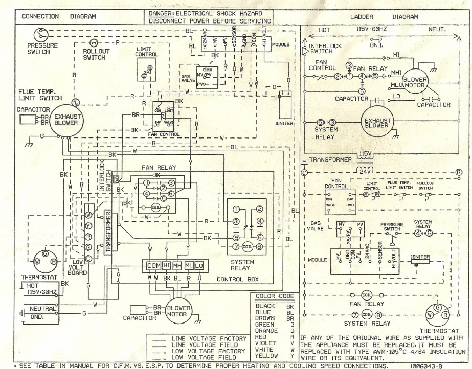 old furnace wiring diagram also electric motor capacitor wiring