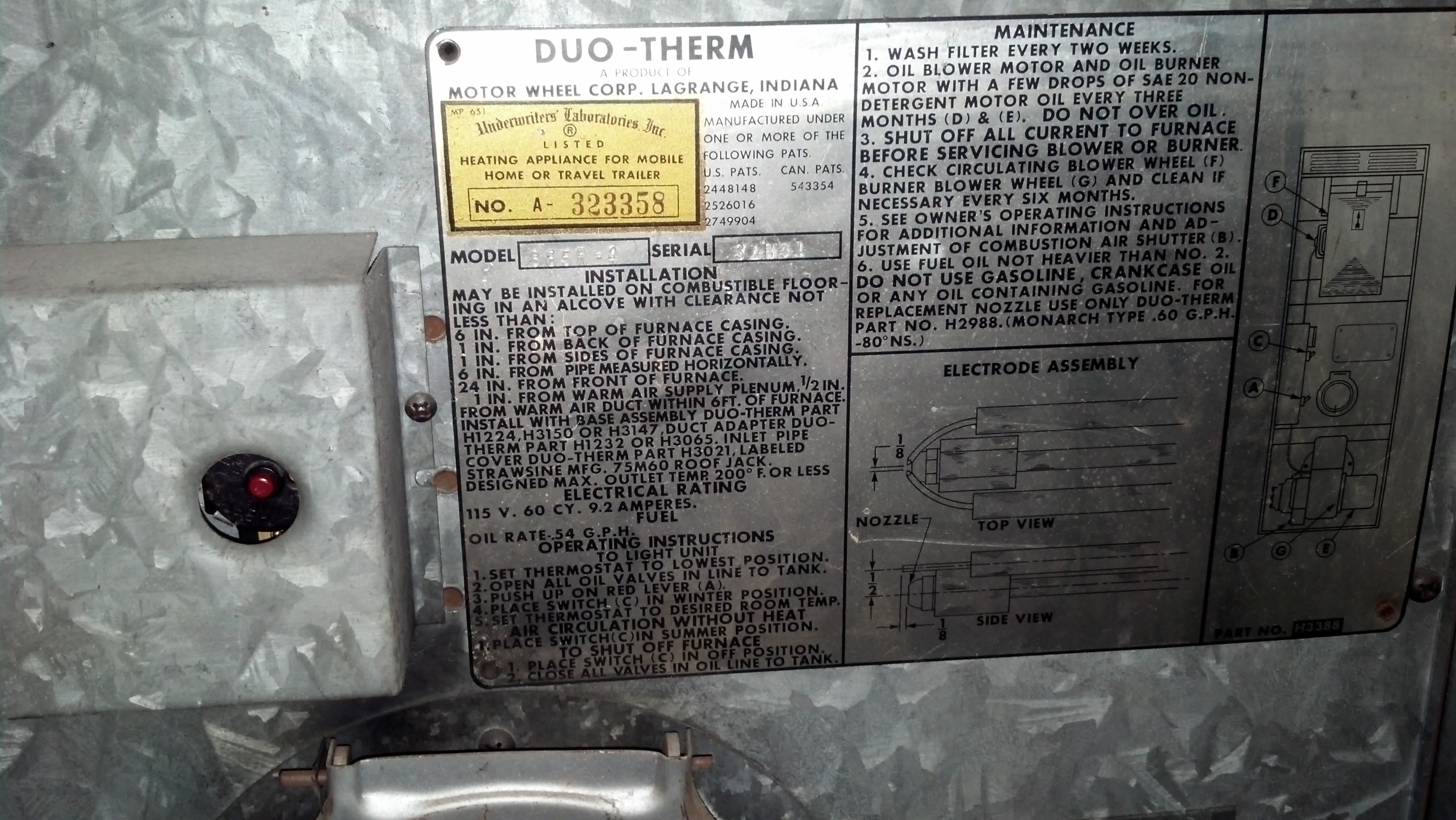 I apologize for the confusion. I just wasnt sure if it uses fuel oil or  kerosene. I attached a couple photos of the info plate and furnace. Thanks,  Reg