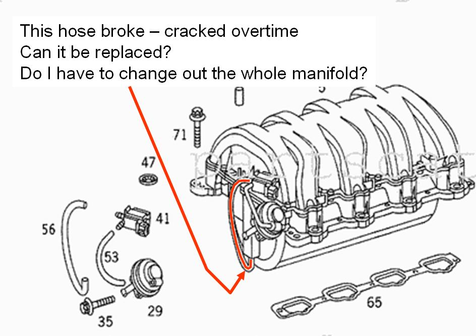 Do I Need To Replace The Entire Manifold  Clk 430 2002  Or