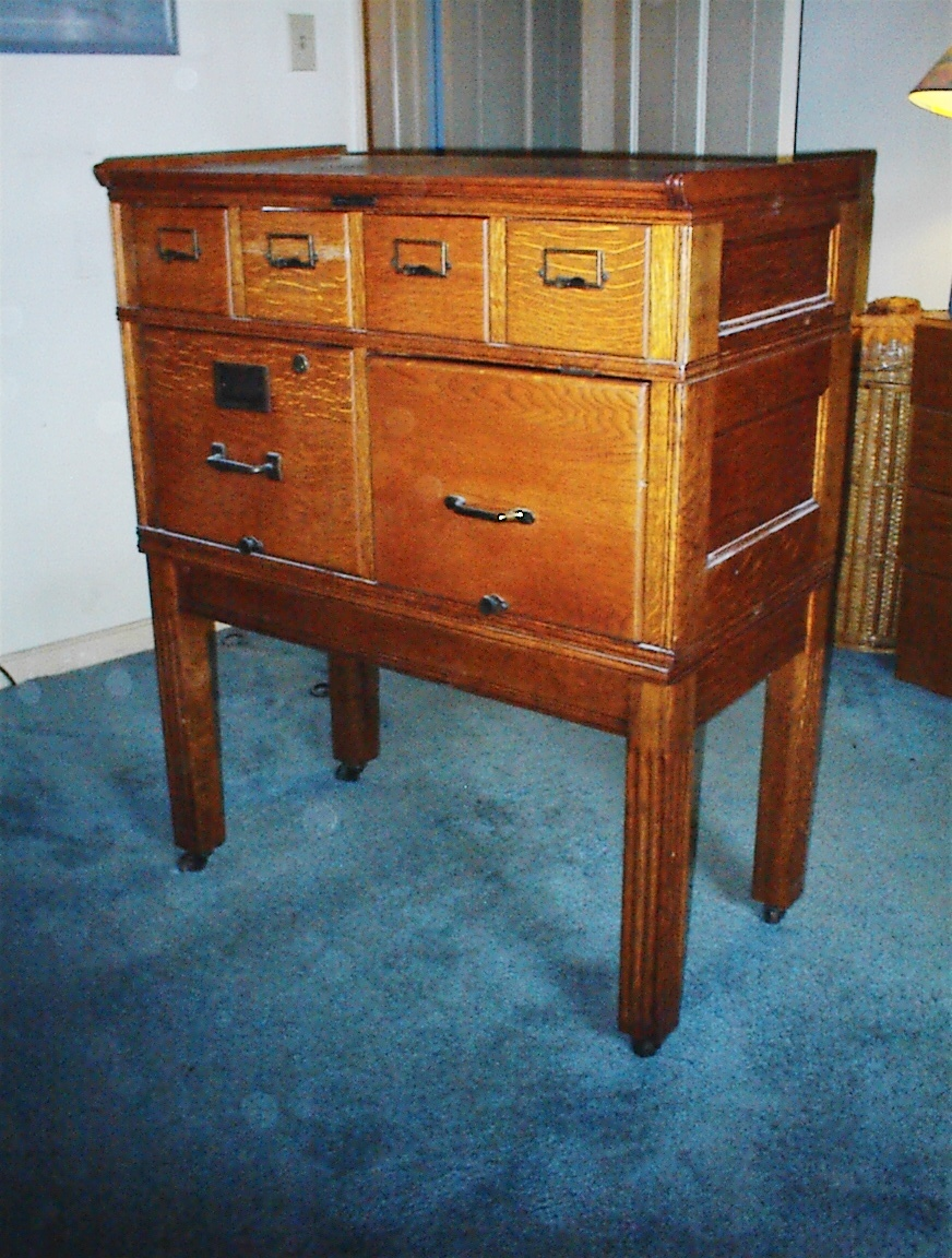 I have a Yawman & Erbe Mfg Co, 4 section stackable file cabinet ...
