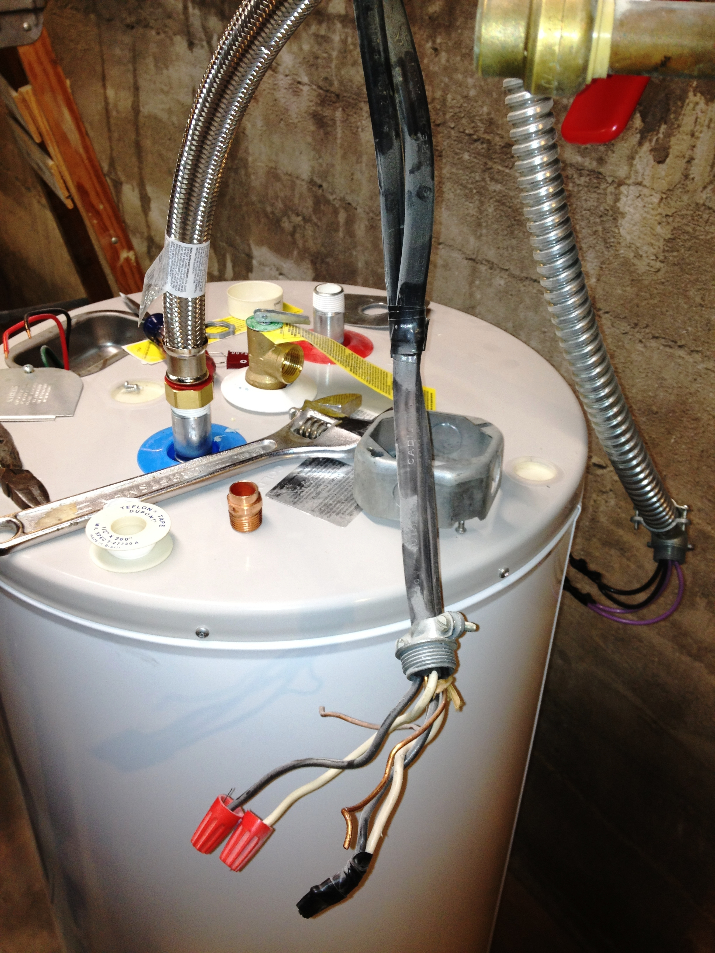 I Am Replacing An Already Removed Electric Water Heater With A New Electric Water Heater  The