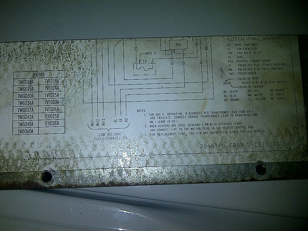 I have a trane ac and my blower d. i bought a replacement ... Xr Hard Start Kit Wiring Diagram on
