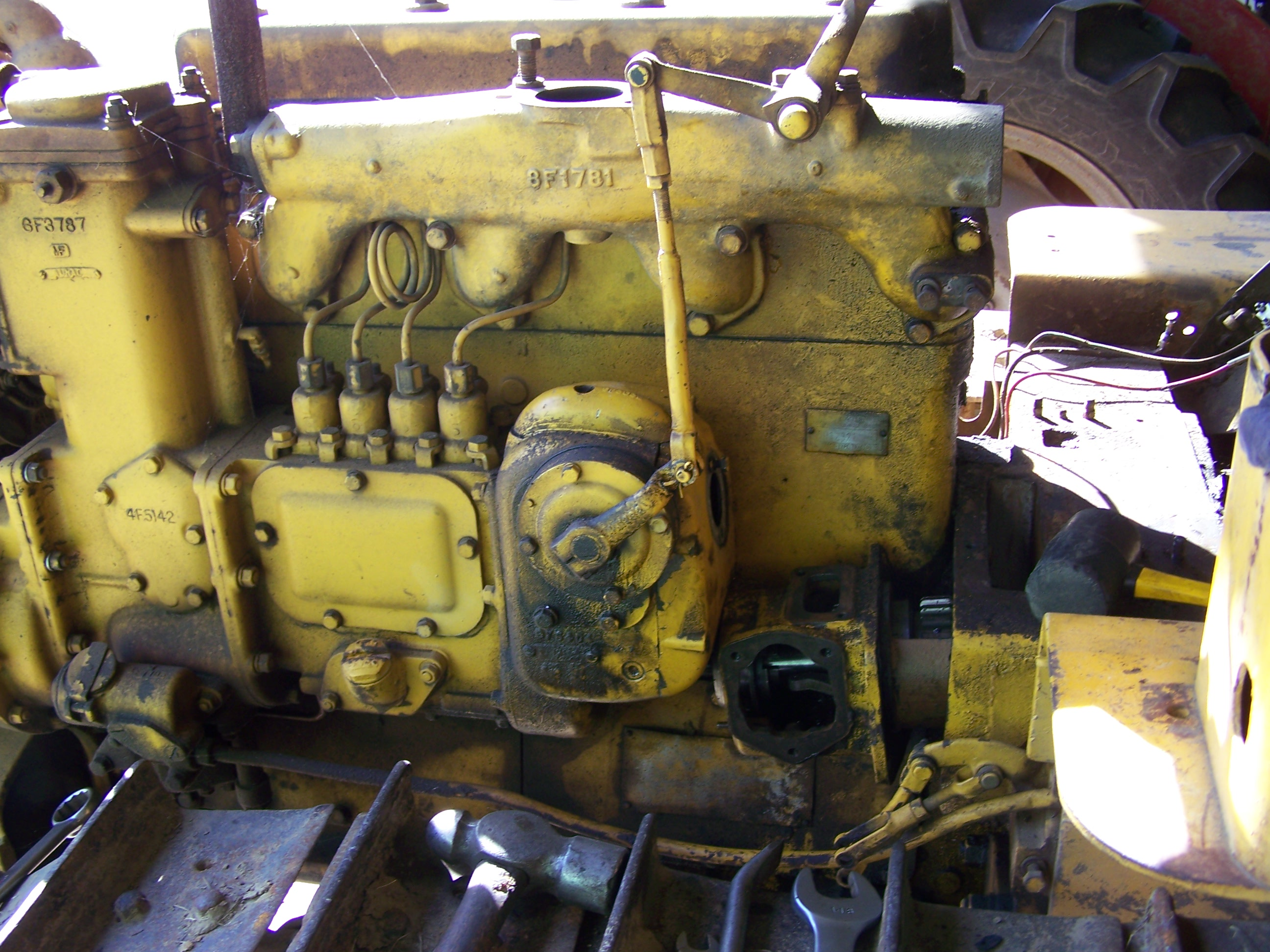 Caterpillar clutch housing removal D4 6U how to