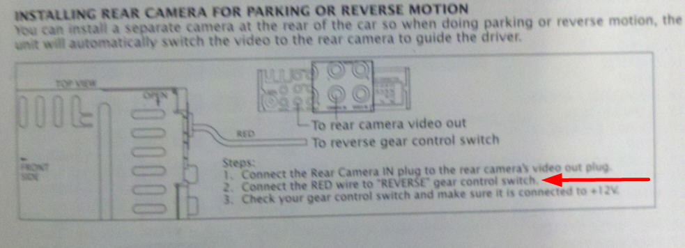 Installing a backup camera it asks me to connect 1 wire to the hand graphic red wire grey wire asfbconference2016 Choice Image