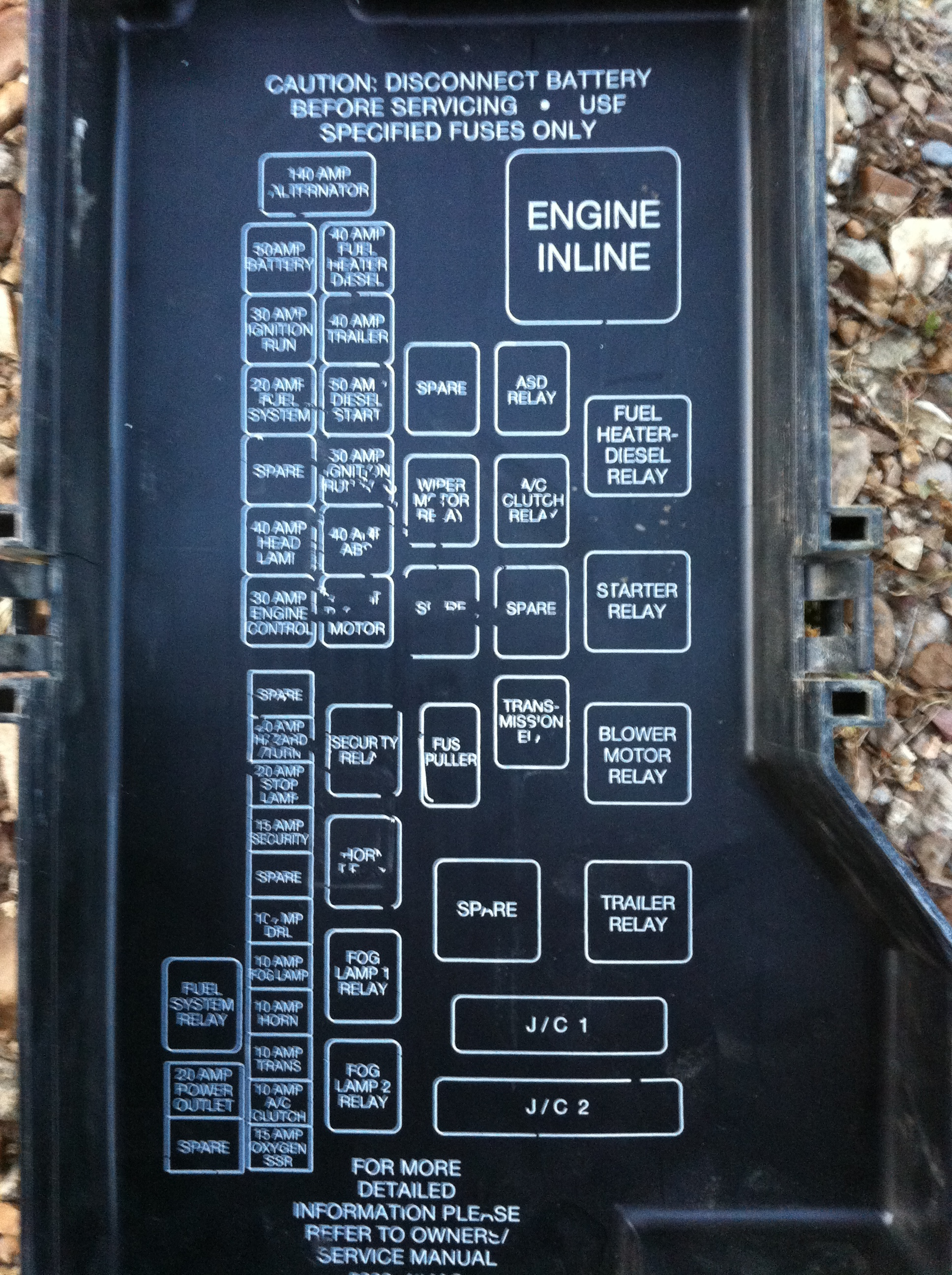 Dodge Truck Fuse Box Private Sharing About Wiring Diagram 1970 Charger Block I Have A 98 Ram 2500 With Cummins Engine When Turn The Key To Rh Justanswer Com 2006