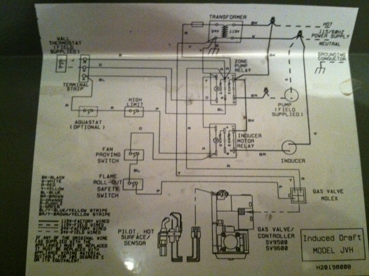 Wiring Of Honeywell Thermostat