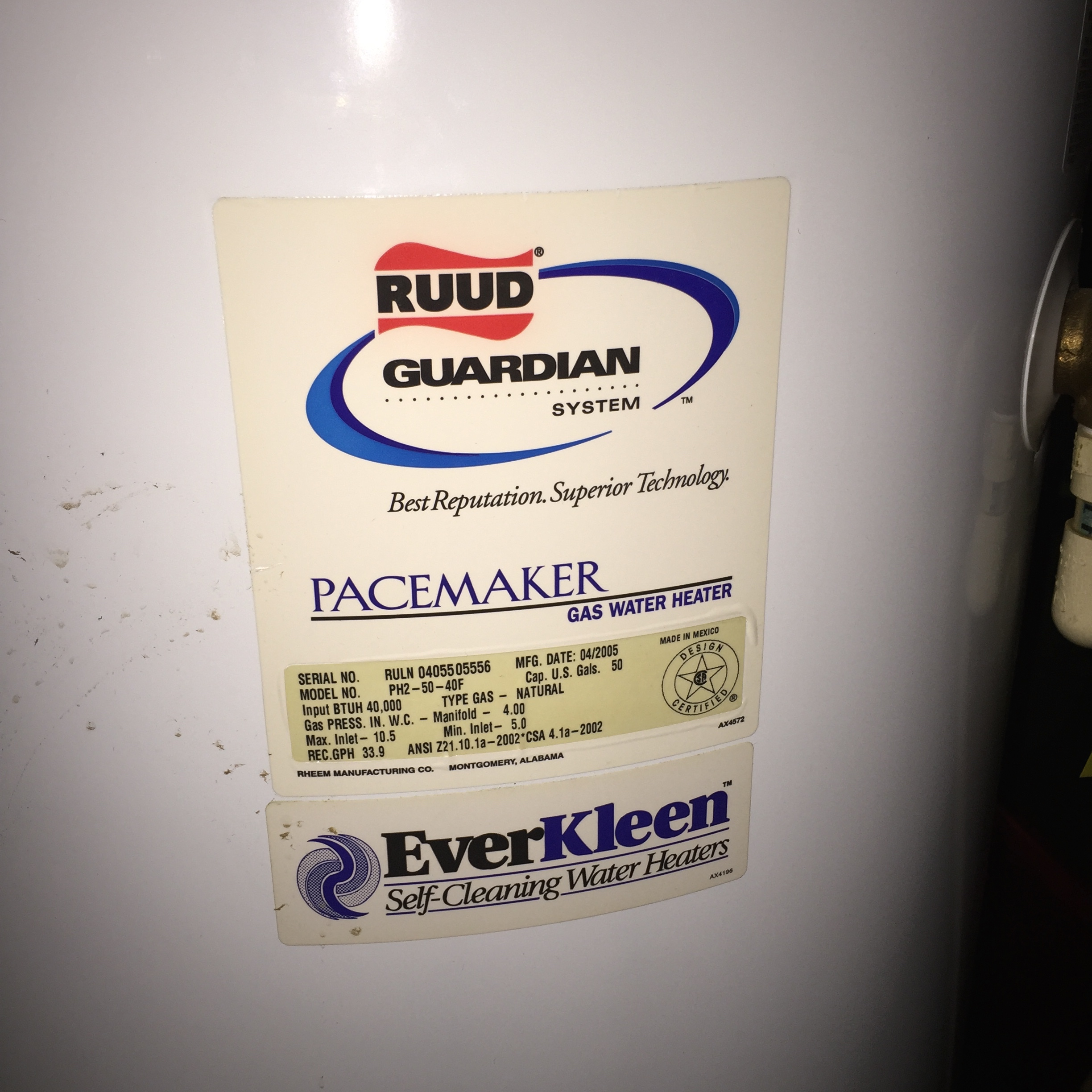 Ruud Guardian Water Heater Tyres2c