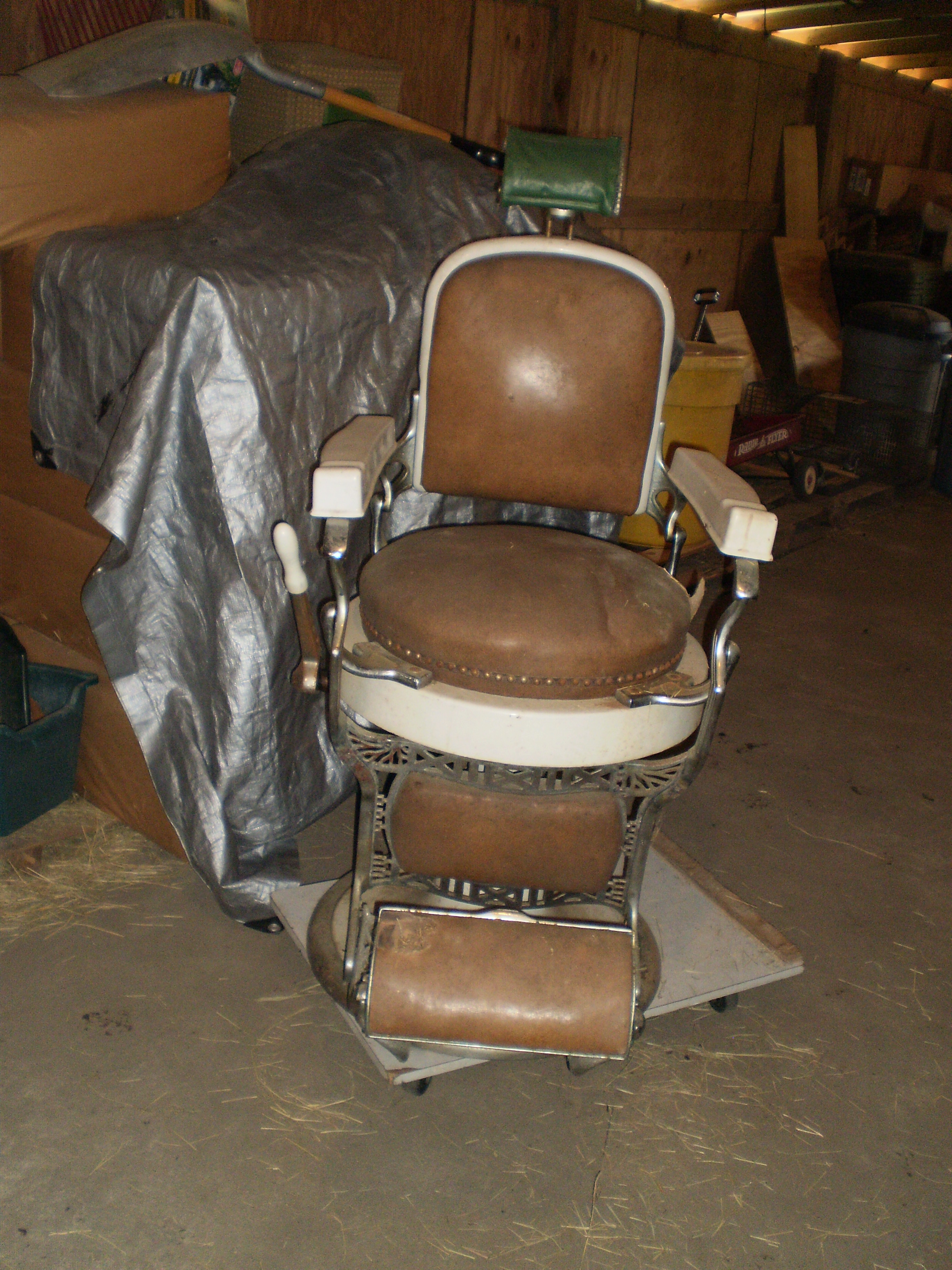Koken barber chair serial number - Full Size Image
