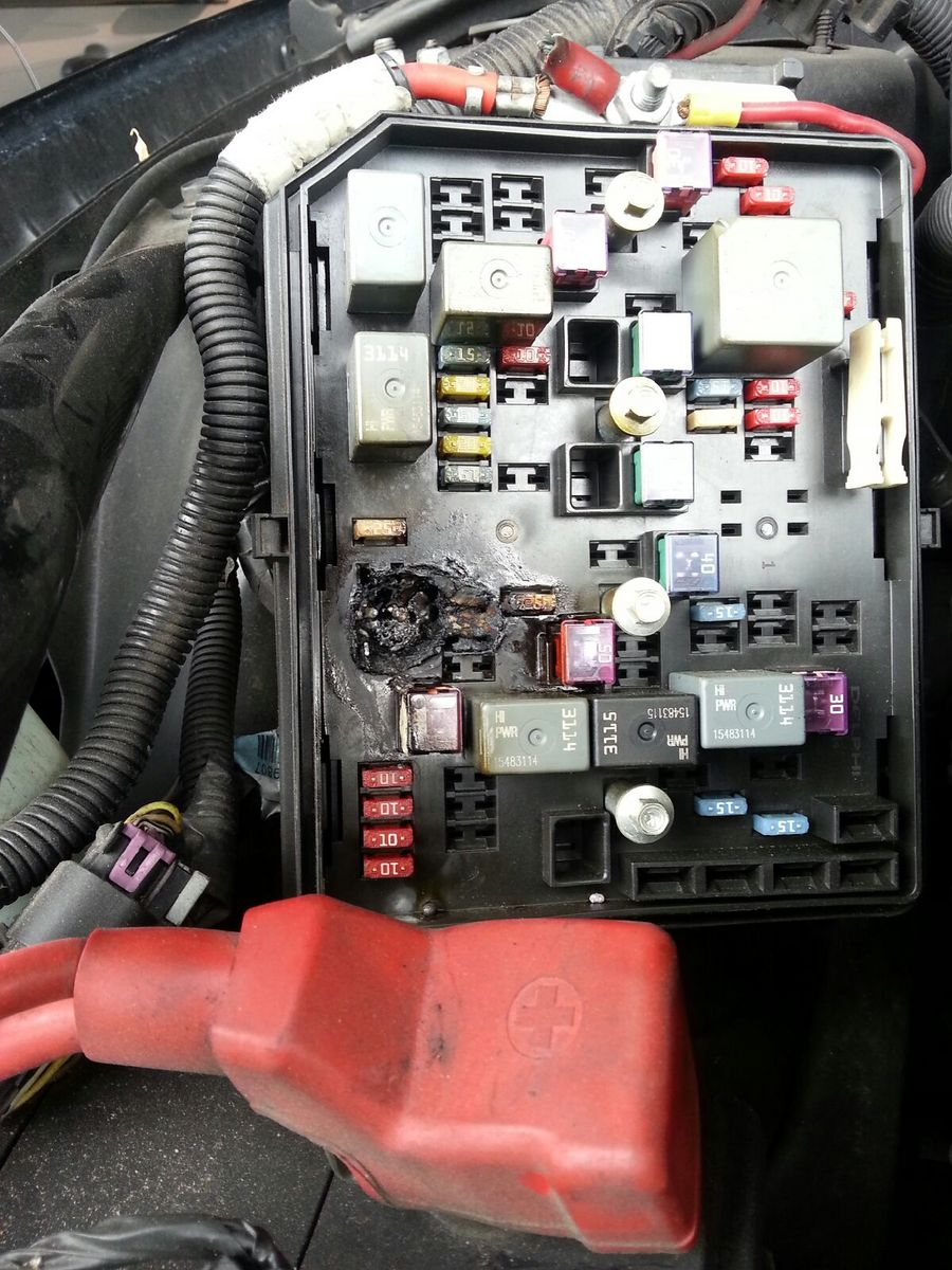 Fried Wires In Fuse Box Under Hood 2007 G6 42 Wiring Diagram Location 2013 09 23 022718 Burnt My Son Had The Same Problem Replaced Hdm And 2 Weeks Burned