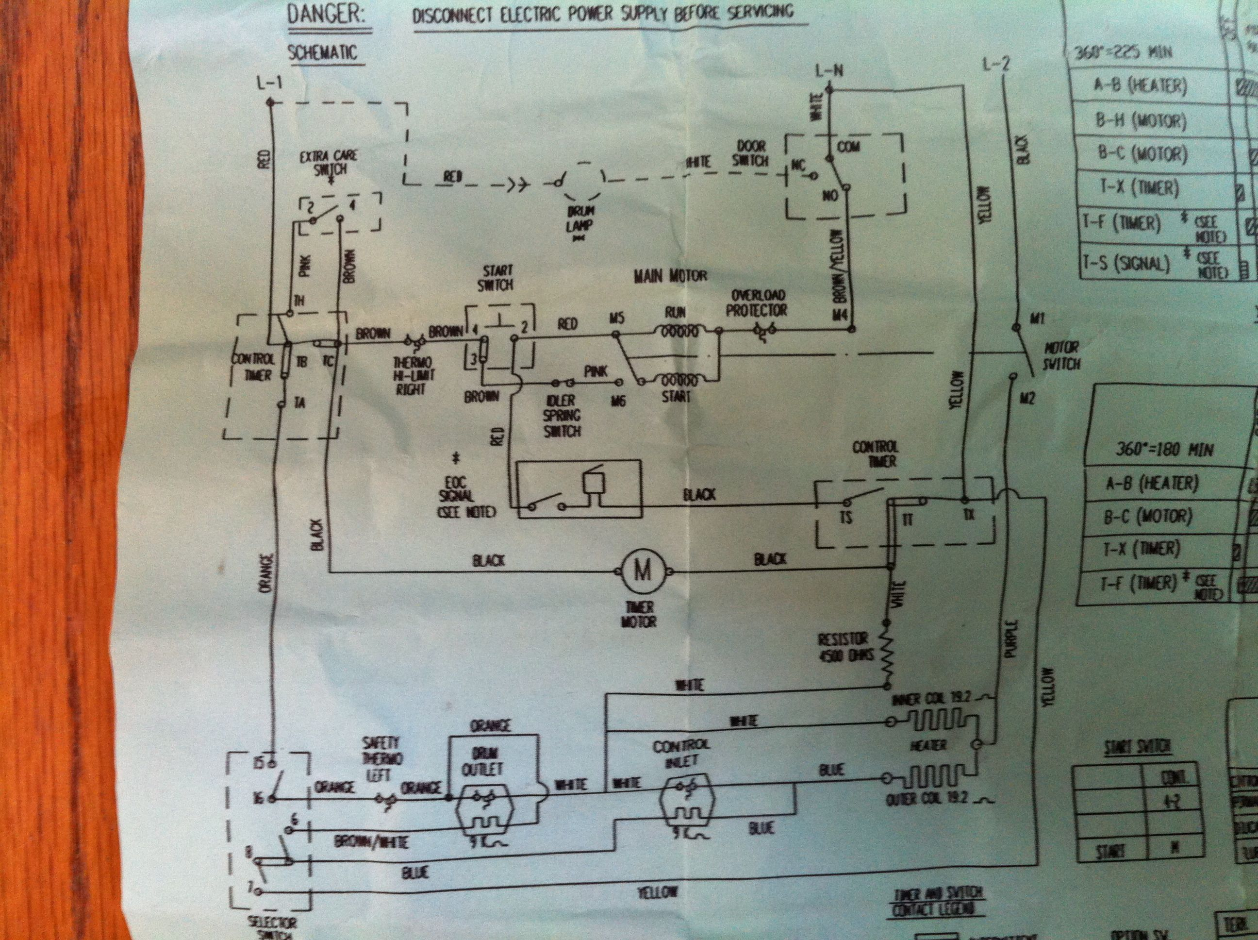 I have a GE electric Dryer which will not run. It has motor ... New Motor For Ge Dryer Wiring Diagrams on