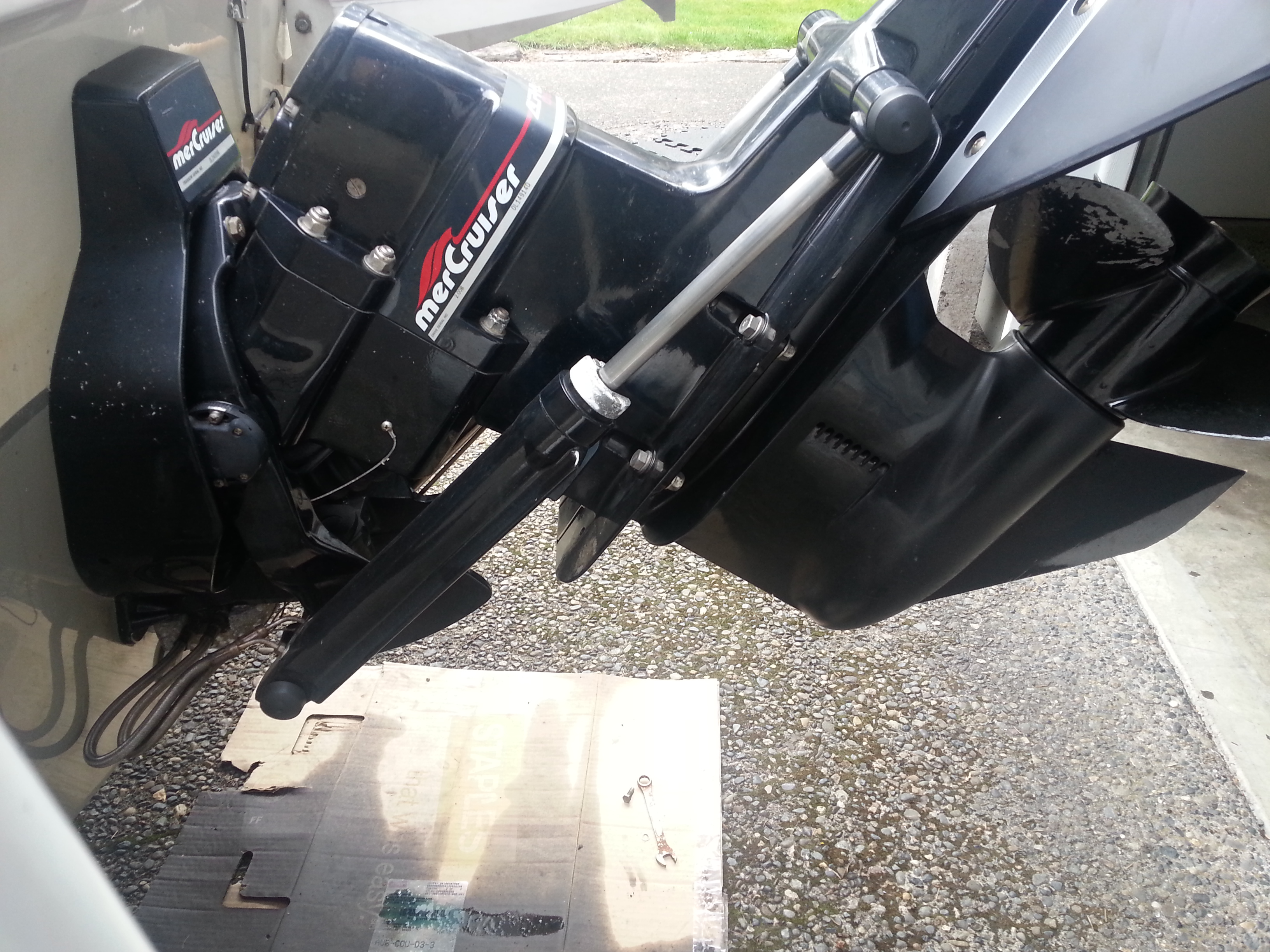 1998 Mercruiser Alpha One  Leaking where the lowercase meets the