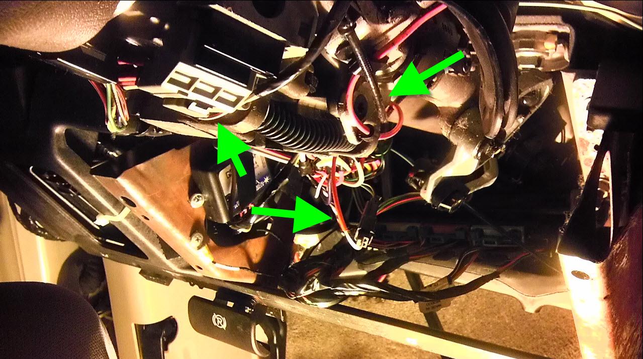 Lower Steering Column Removed