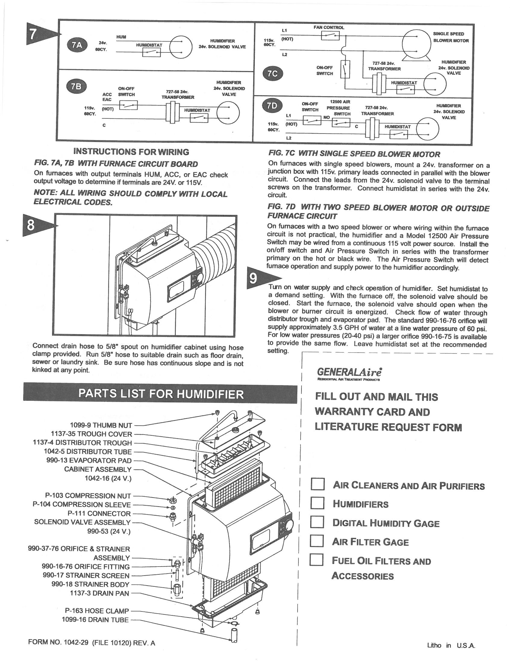 General 1137 Wiring Diagram. generalaire humidifier model 81 motor not  working. instructions for wiring humidifier e series humidistat. need help  wiring aprilaire 400 with generalaire mhx3. generalaire m3 manuel d 39  utilisation2002-acura-tl-radio.info