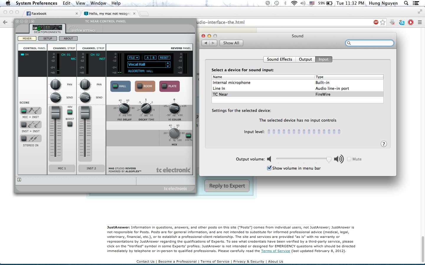 My mac not recognizing my audio interface it said the selected it just opened like normal i can upload the screen capture for you buycottarizona