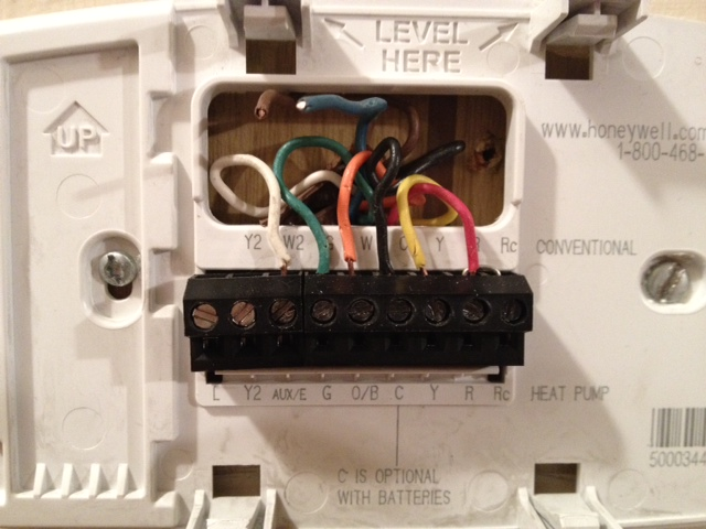 install a honeywell th6320u1000 thermostat in place of a trane weathertron  on a trane heat pump. thermostat engages  justanswer