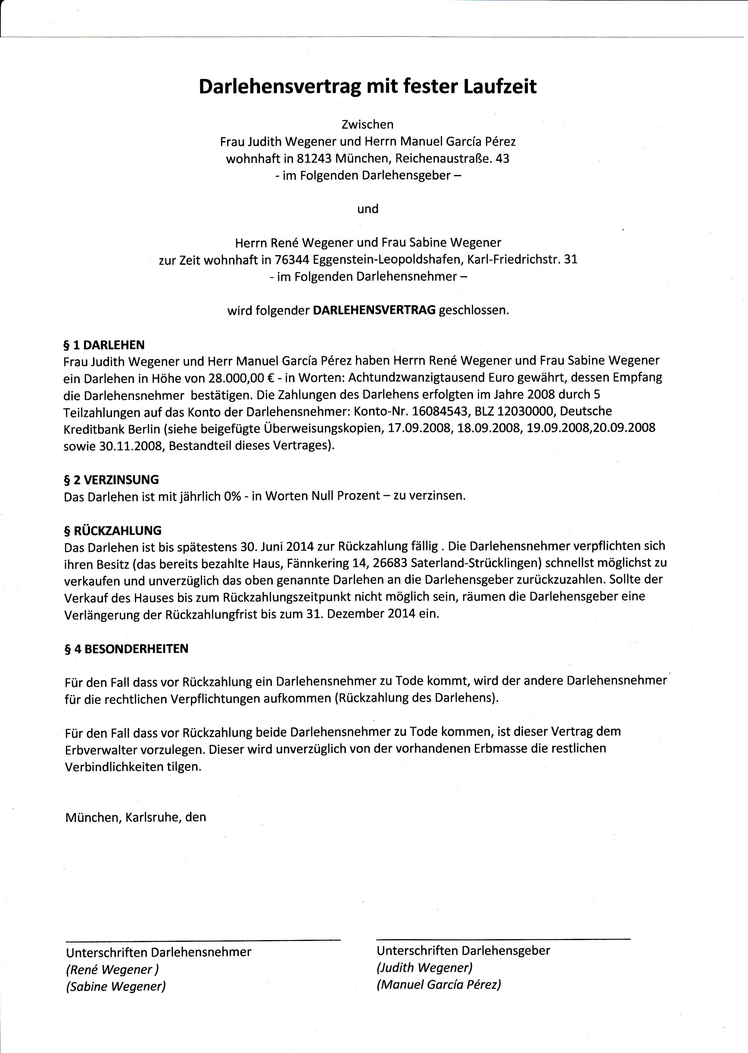 Attractive Vertrag Für Geld Darlehen Pattern - FORTSETZUNG ...